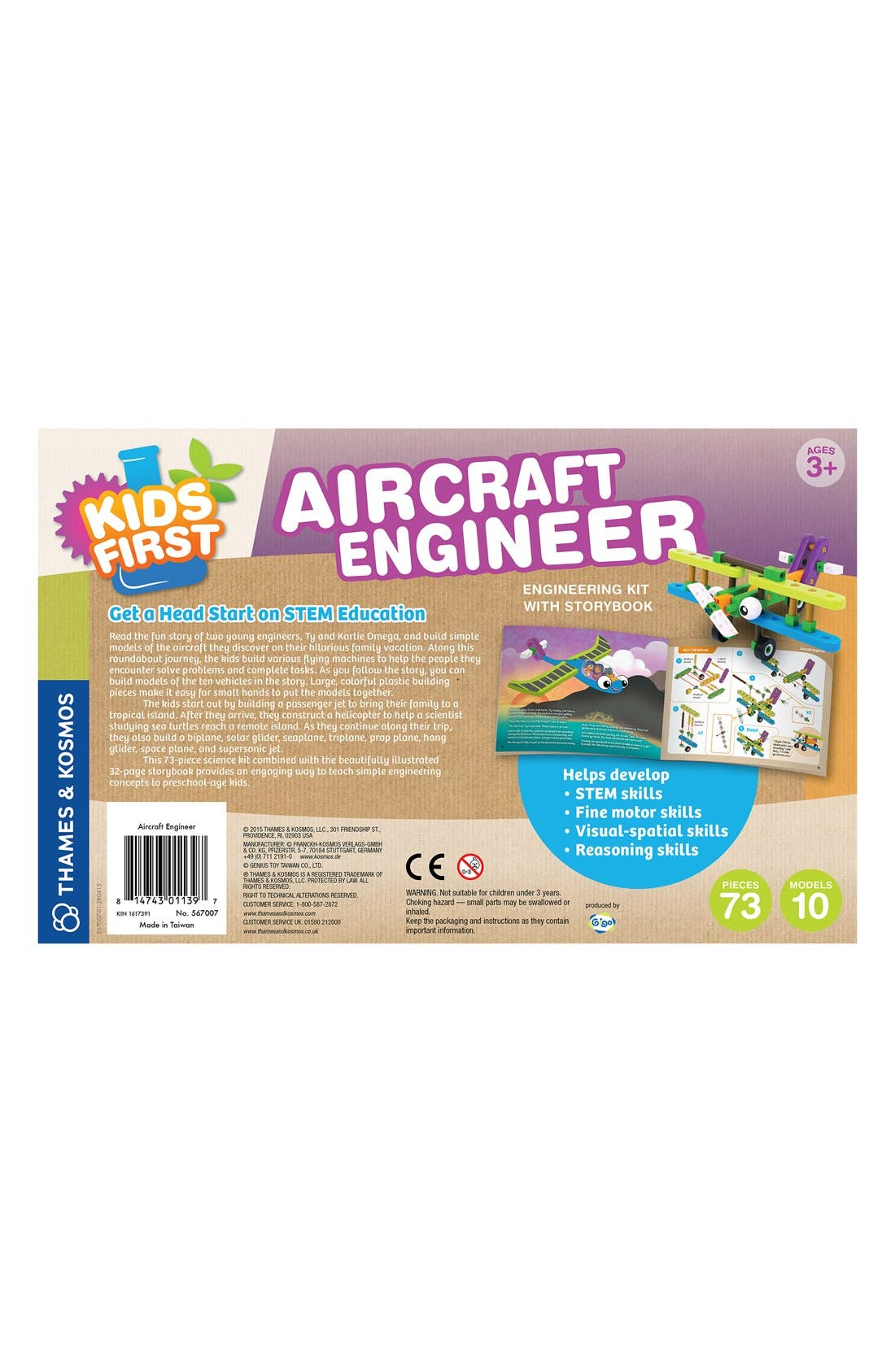 'Kid First - Aircraft Engineer' Kit,                             Alternate thumbnail 2, color,                             BLUE
