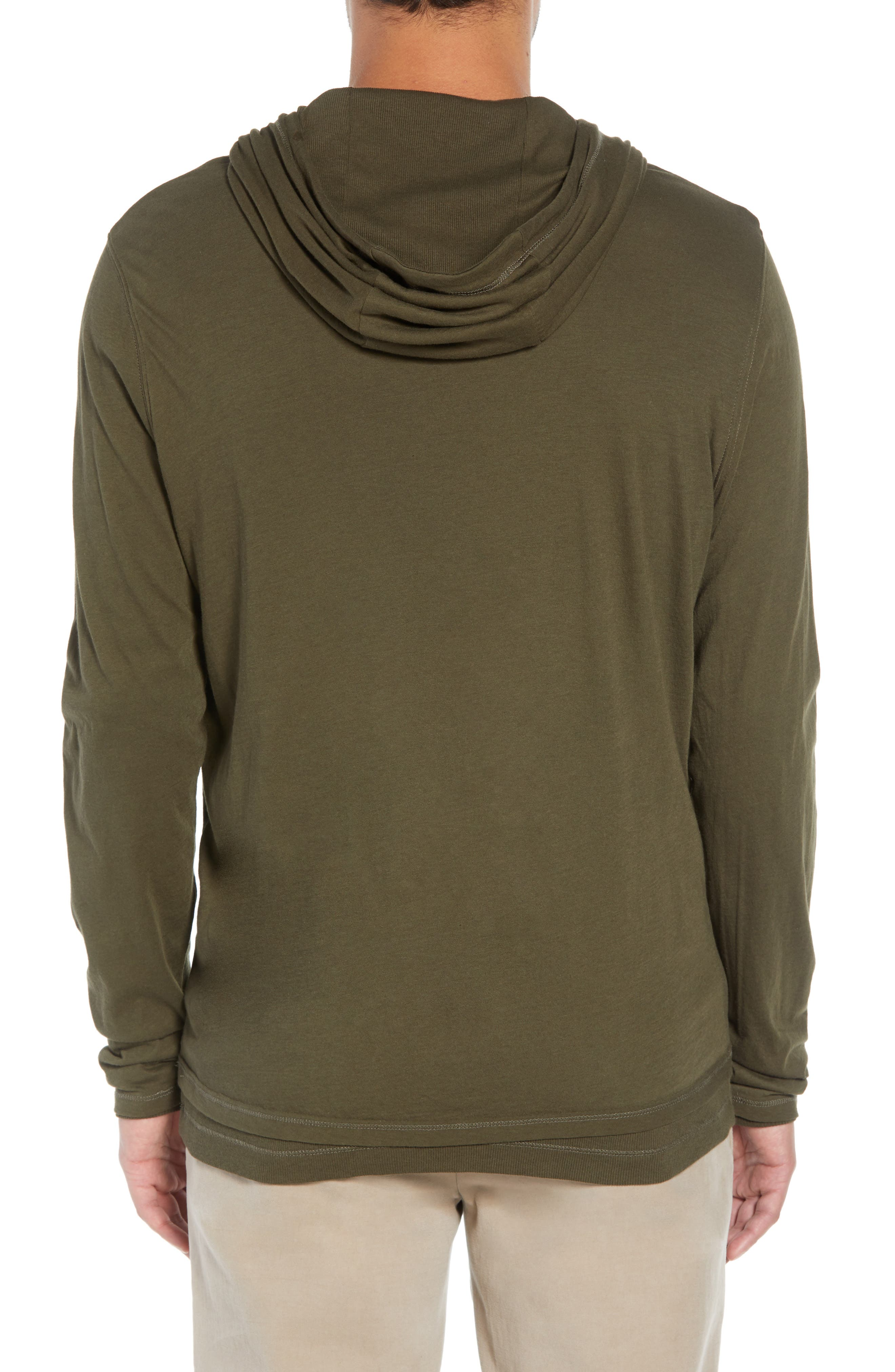VINCE,                             Regular Fit Double Layer Hoodie,                             Alternate thumbnail 2, color,                             374