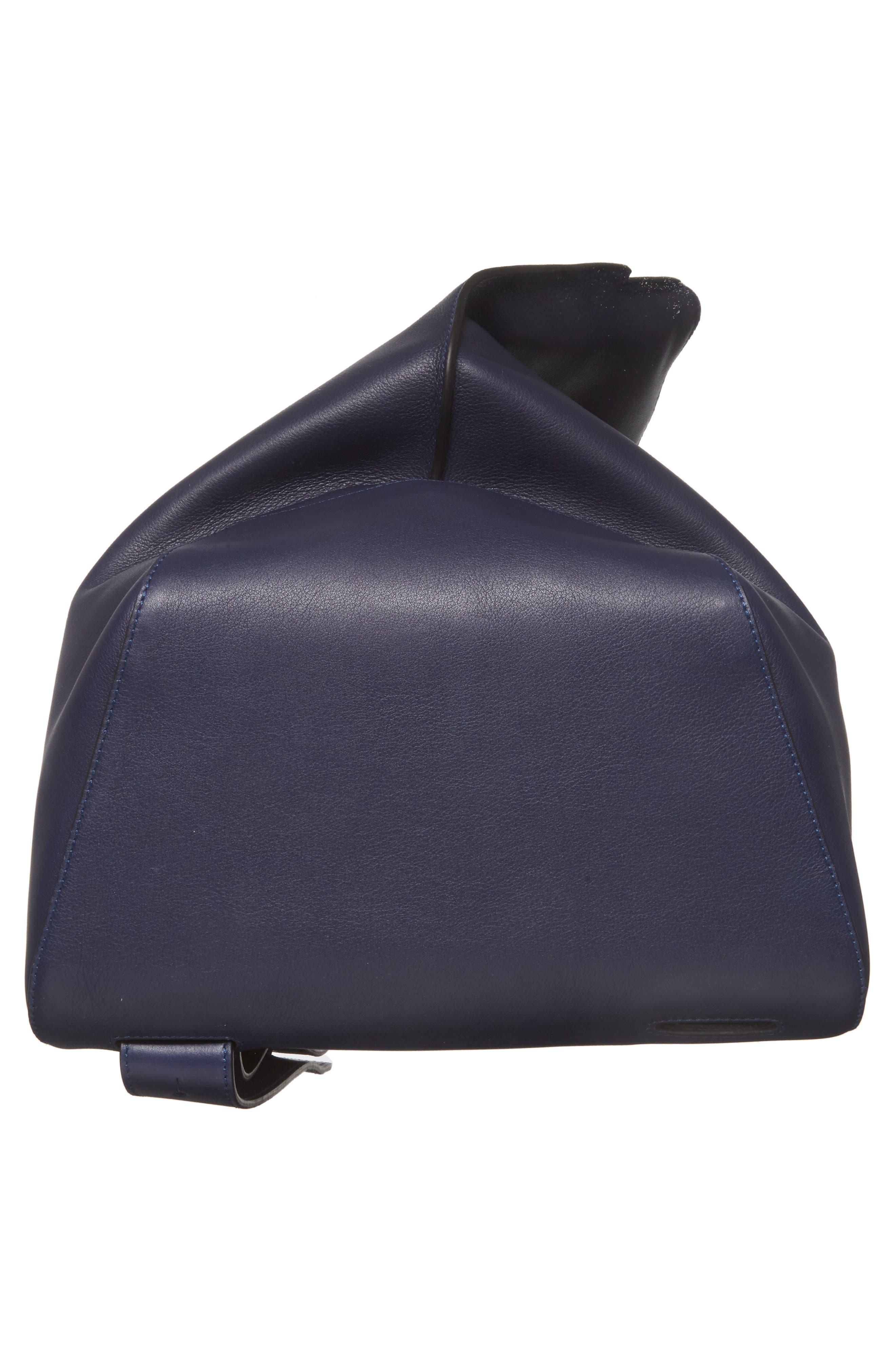 Anton Leather Sling Pack,                             Alternate thumbnail 6, color,                             NAVY BLUE
