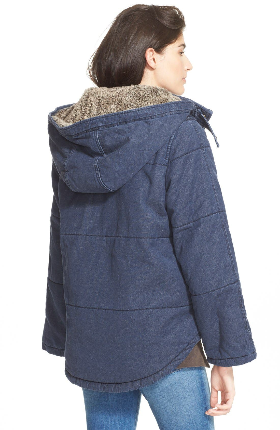 Quilted Denim Jacket,                             Alternate thumbnail 3, color,                             407