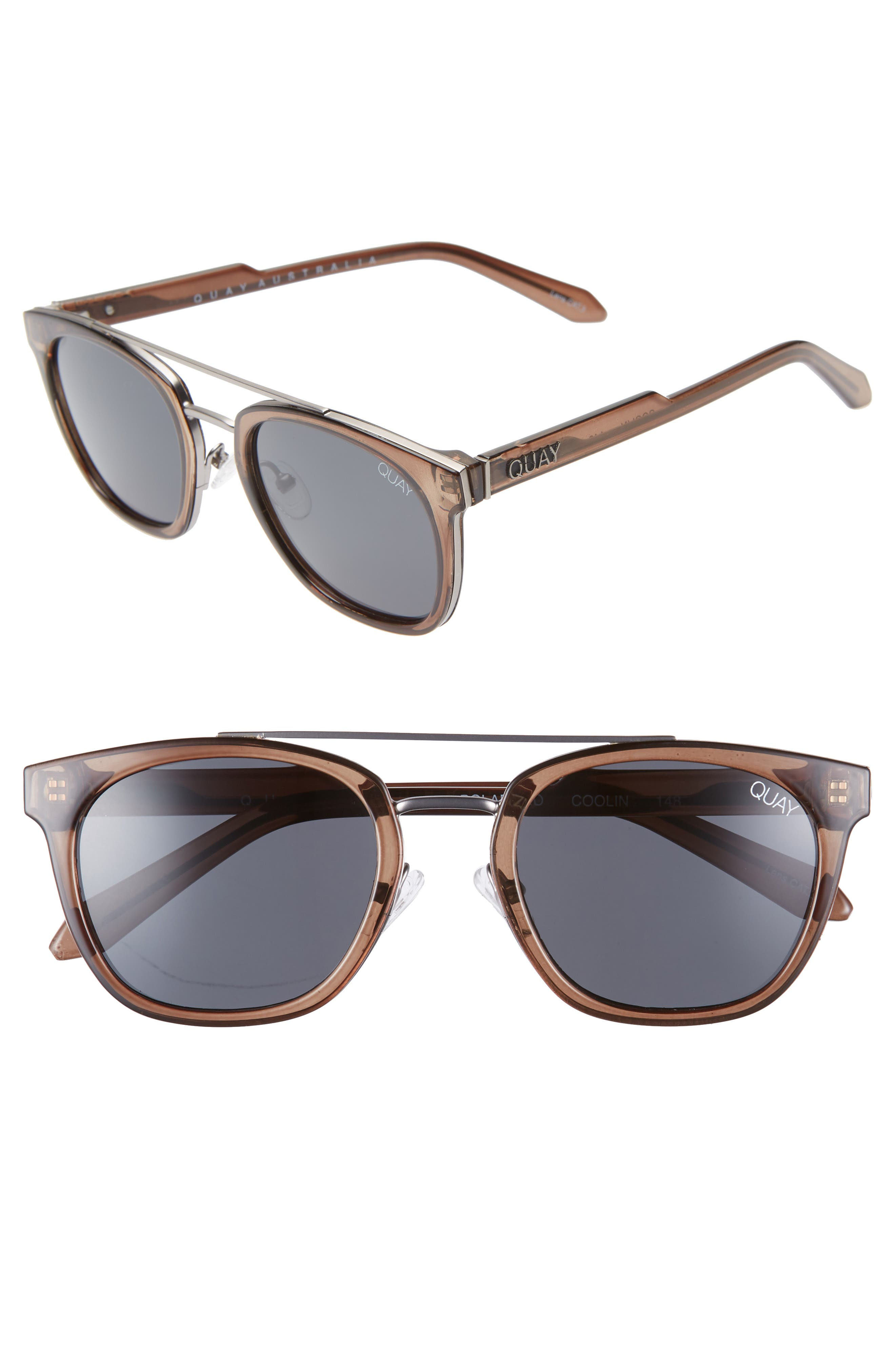 Quay Australia Coolin 51Mm Polarized Sunglasses - Olive/ Smoke
