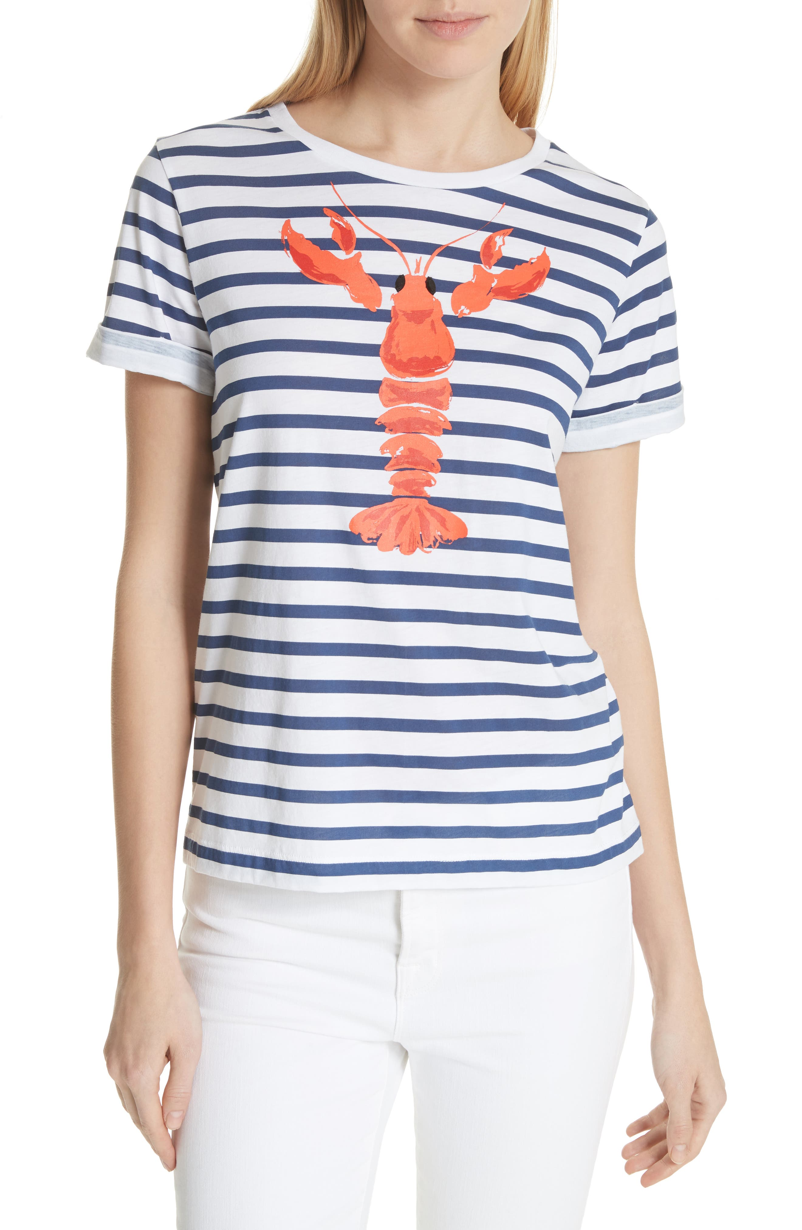 lobster stripe tee,                             Main thumbnail 1, color,                             107