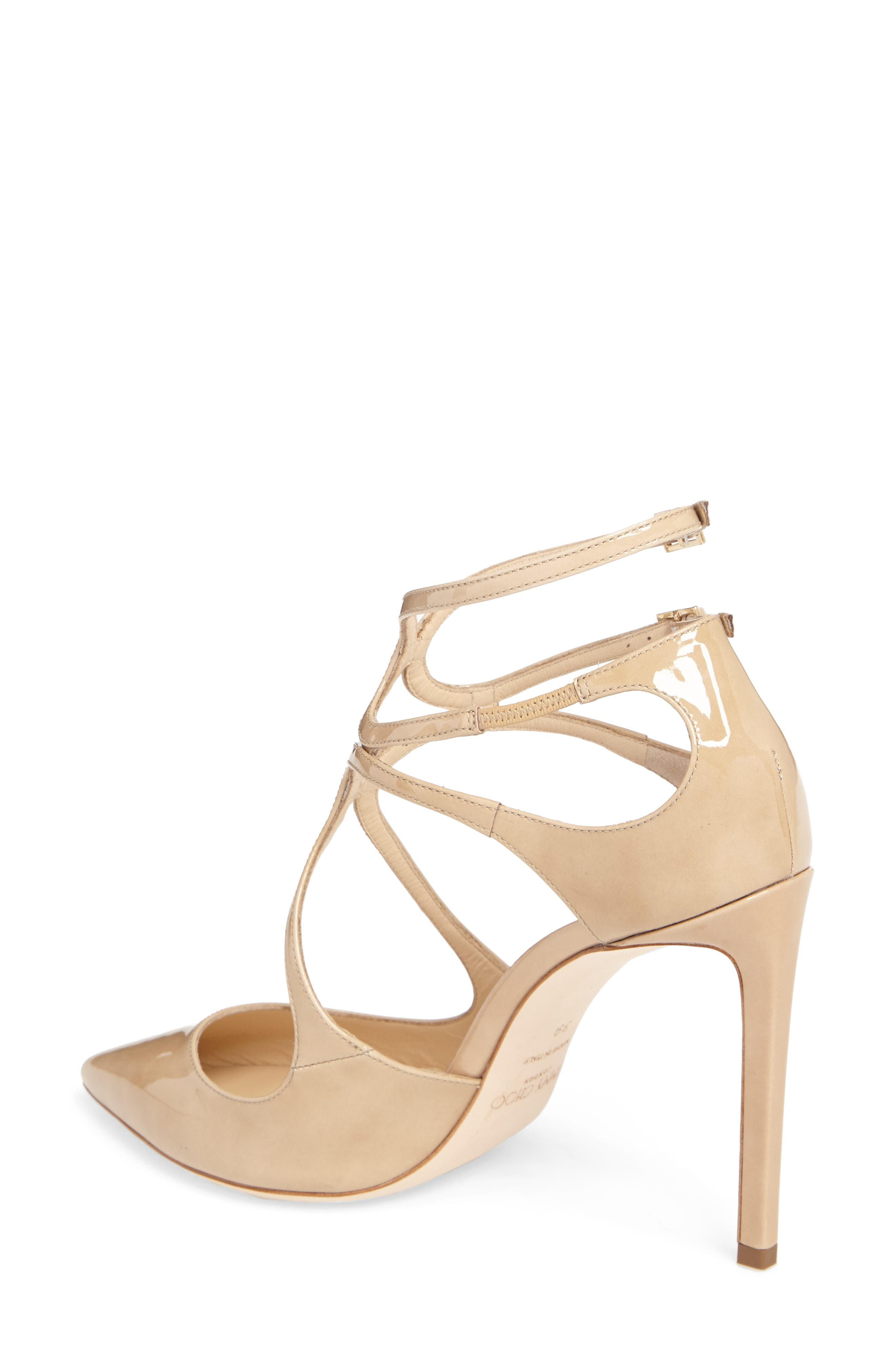 Lancer Strappy Pump,                             Alternate thumbnail 2, color,                             NUDE PATENT