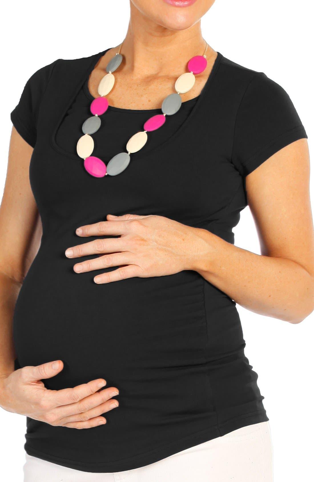 'Essential' Maternity/Nursing Kit,                             Alternate thumbnail 4, color,                             BLACK