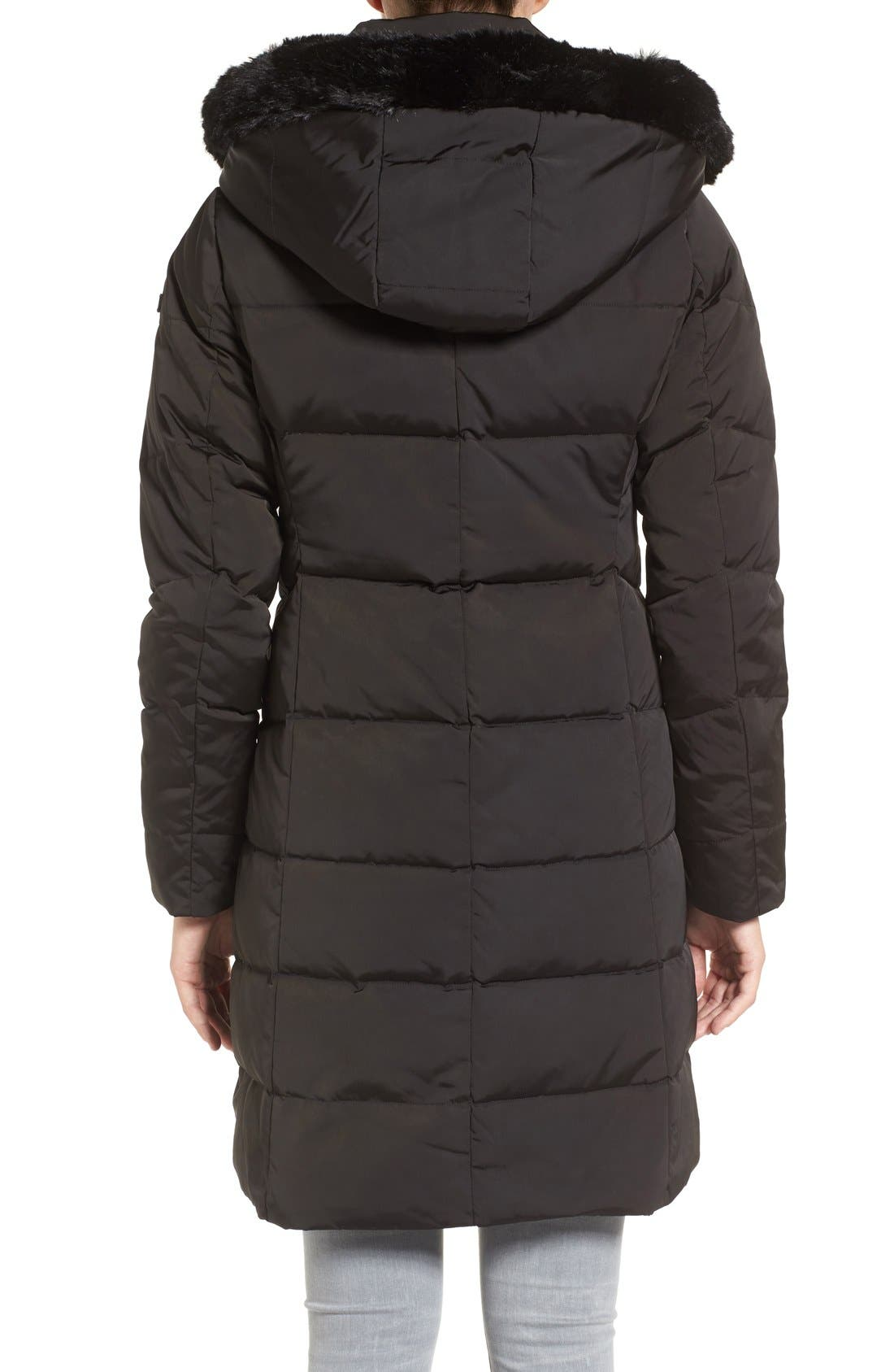 Down & Feather Fill Coat with Faux Fur Trim Hood,                             Alternate thumbnail 12, color,