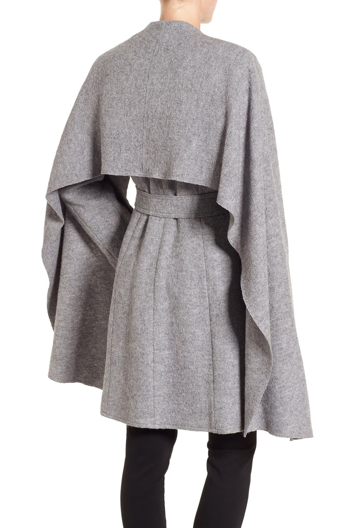 Belted Scarf Front Coat,                             Alternate thumbnail 10, color,