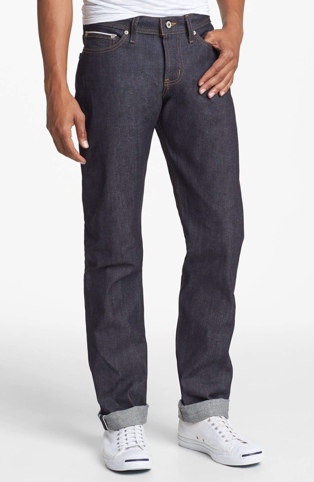 Weird Guy Slim Fit Jeans, Main, color, LEFT HAND TWILL SELVEDGE