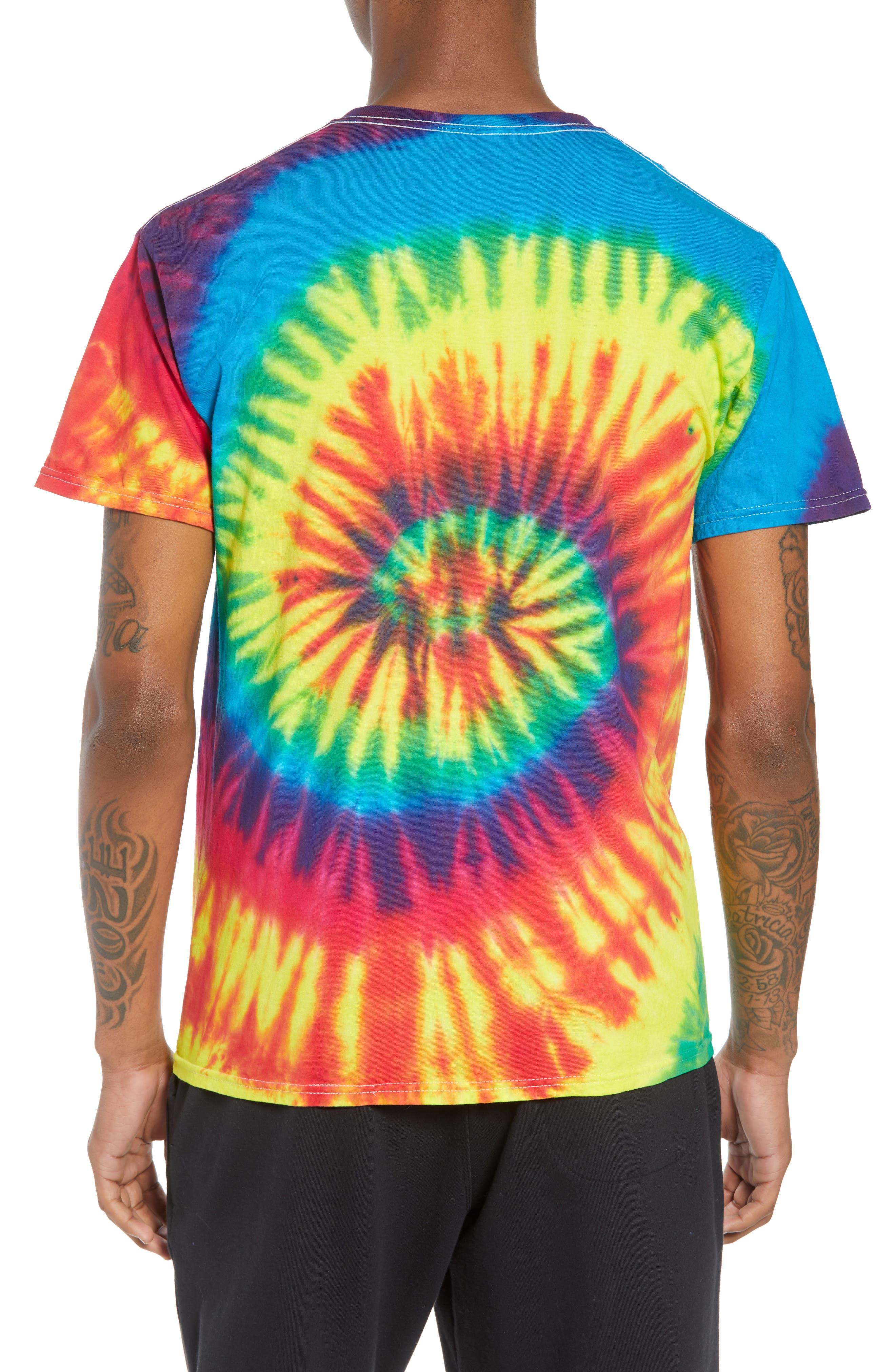 Tie Dye Smiley T-Shirt,                             Alternate thumbnail 2, color,                             960