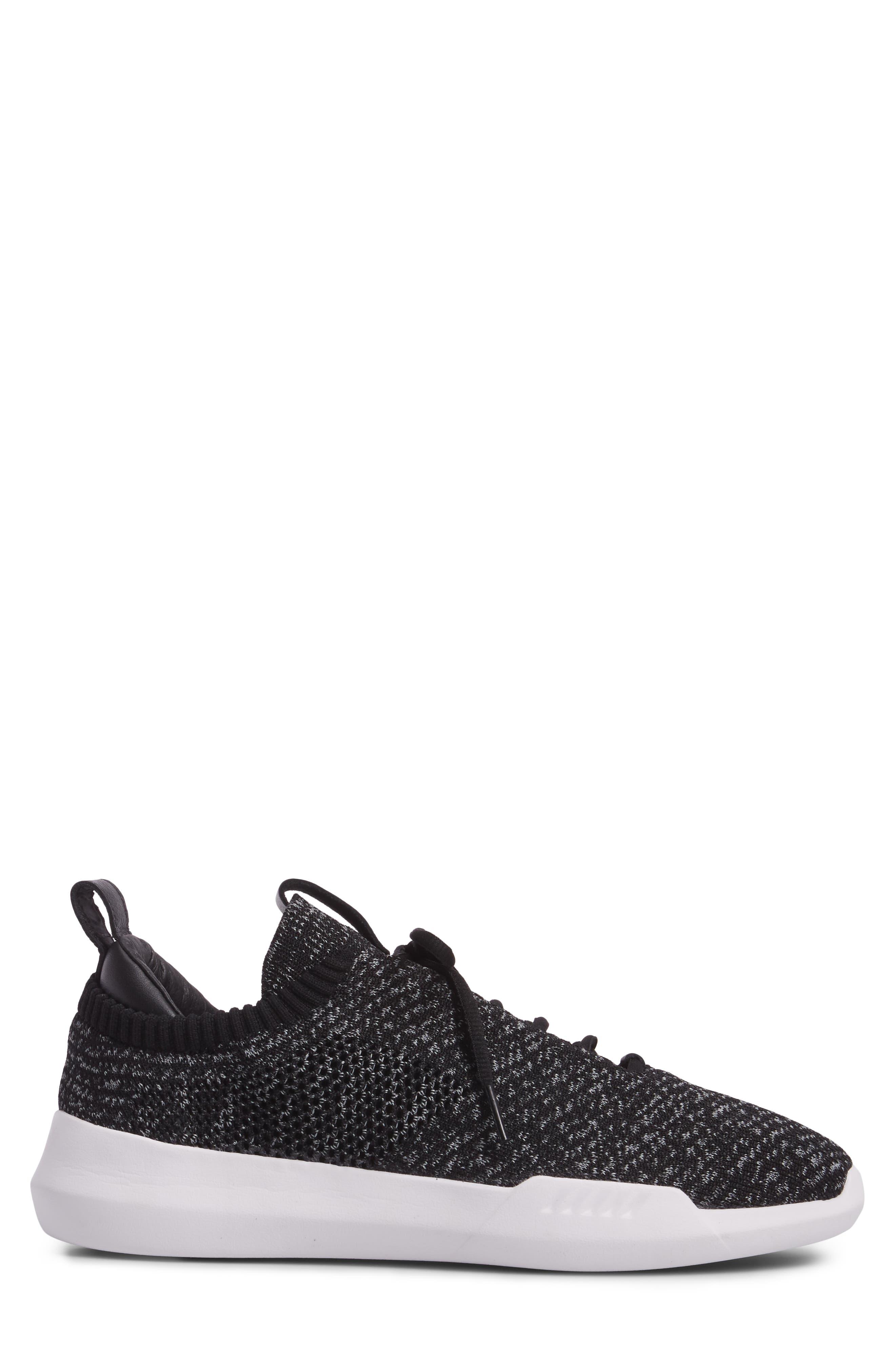 Gen-K Icon Knit Sneaker,                             Alternate thumbnail 3, color,                             BLACK/ GREY HEATHER