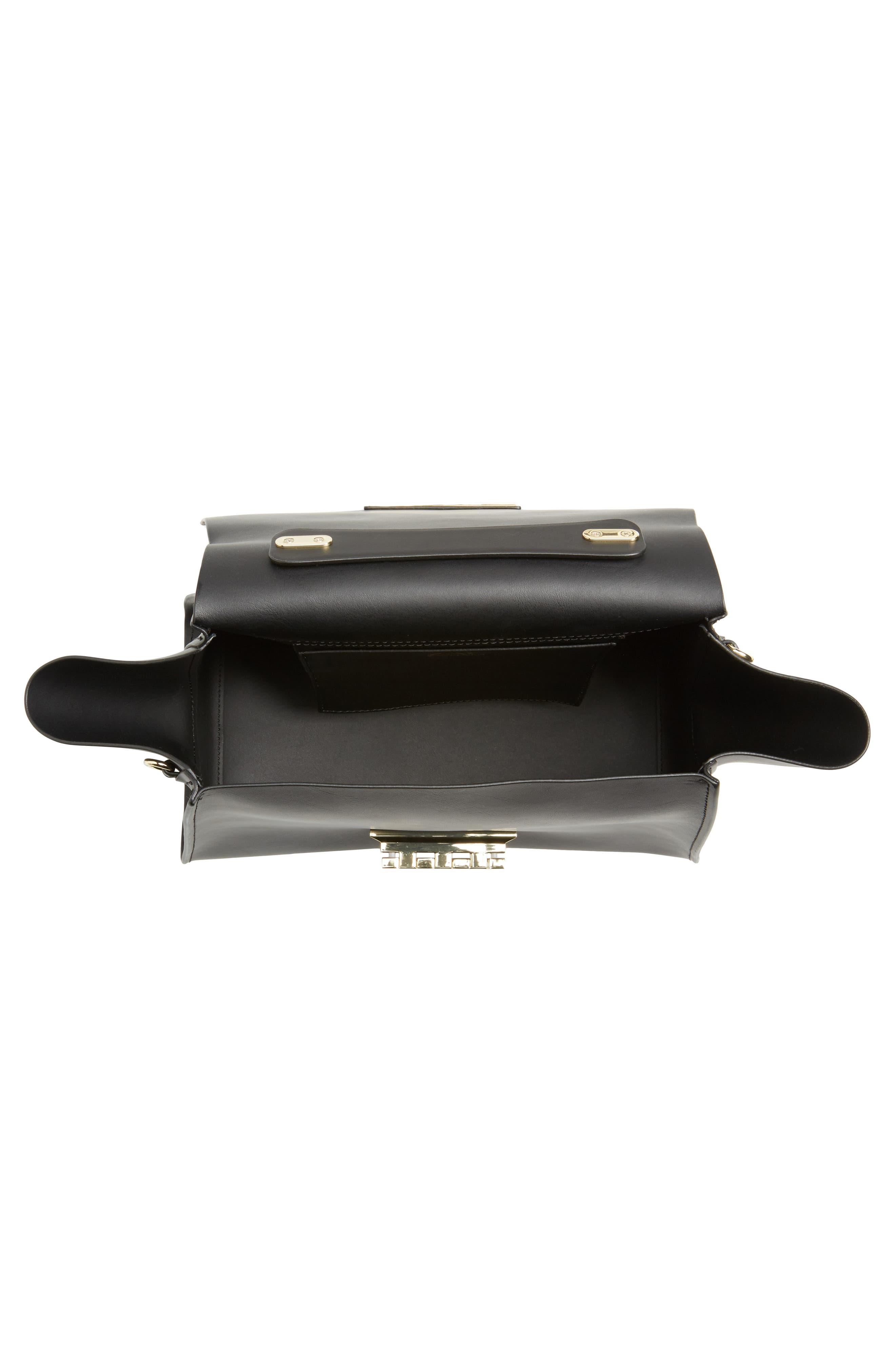 Eartha Iconic Calfskin Leather Top Handle Satchel,                             Alternate thumbnail 4, color,                             001