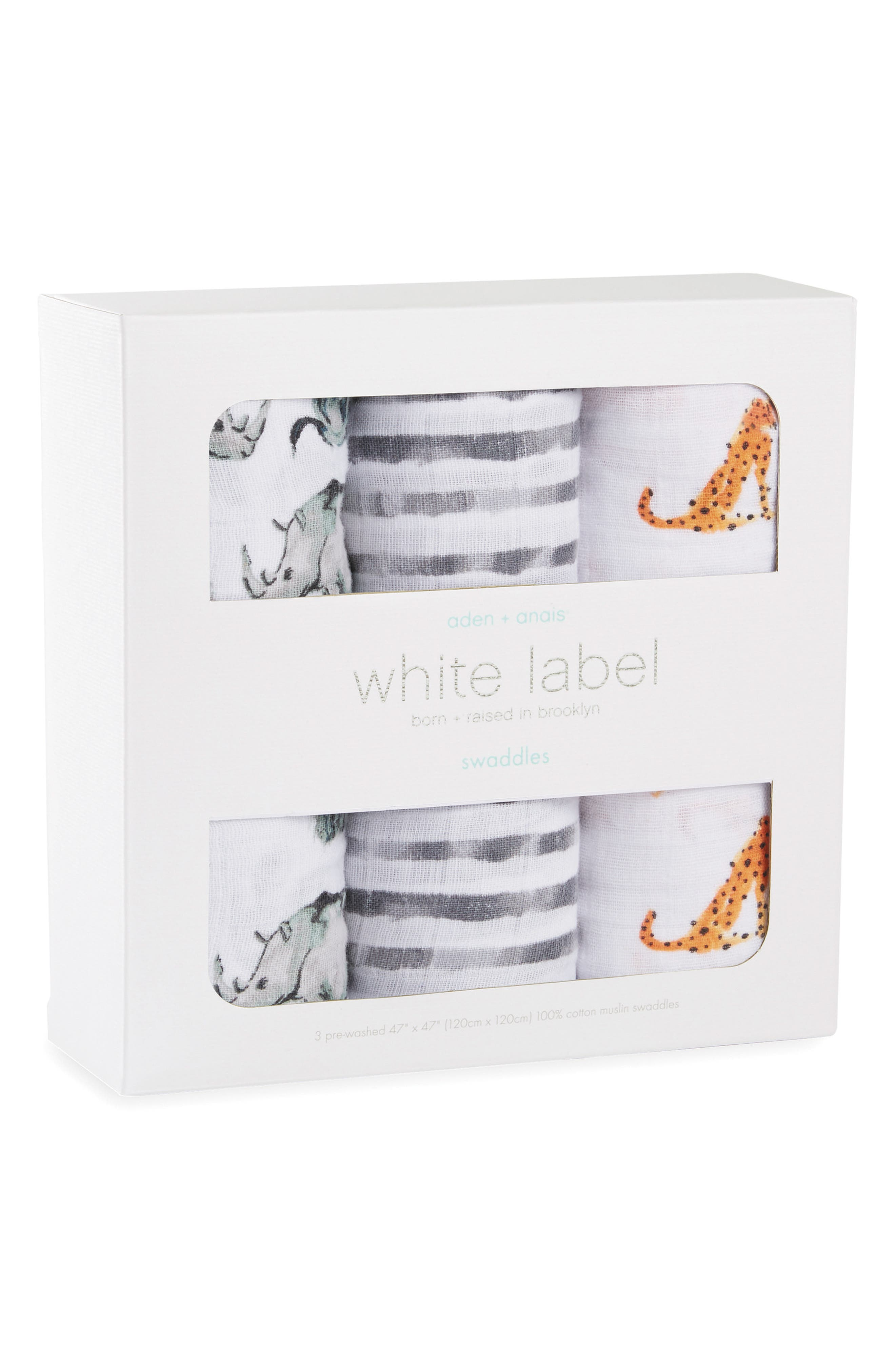 3-Pack Classic Swaddling Cloths,                             Alternate thumbnail 2, color,                             034