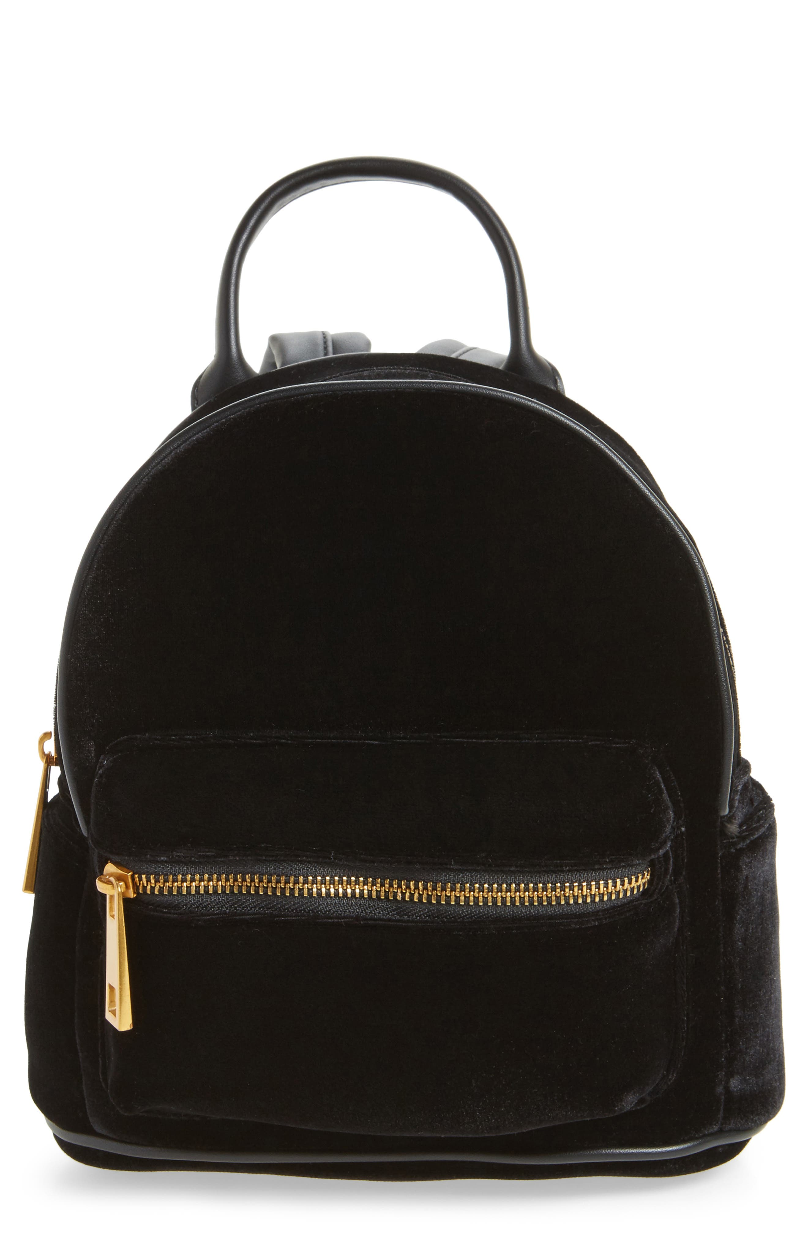 STREET LEVEL Velvet Backpack, Main, color, 001