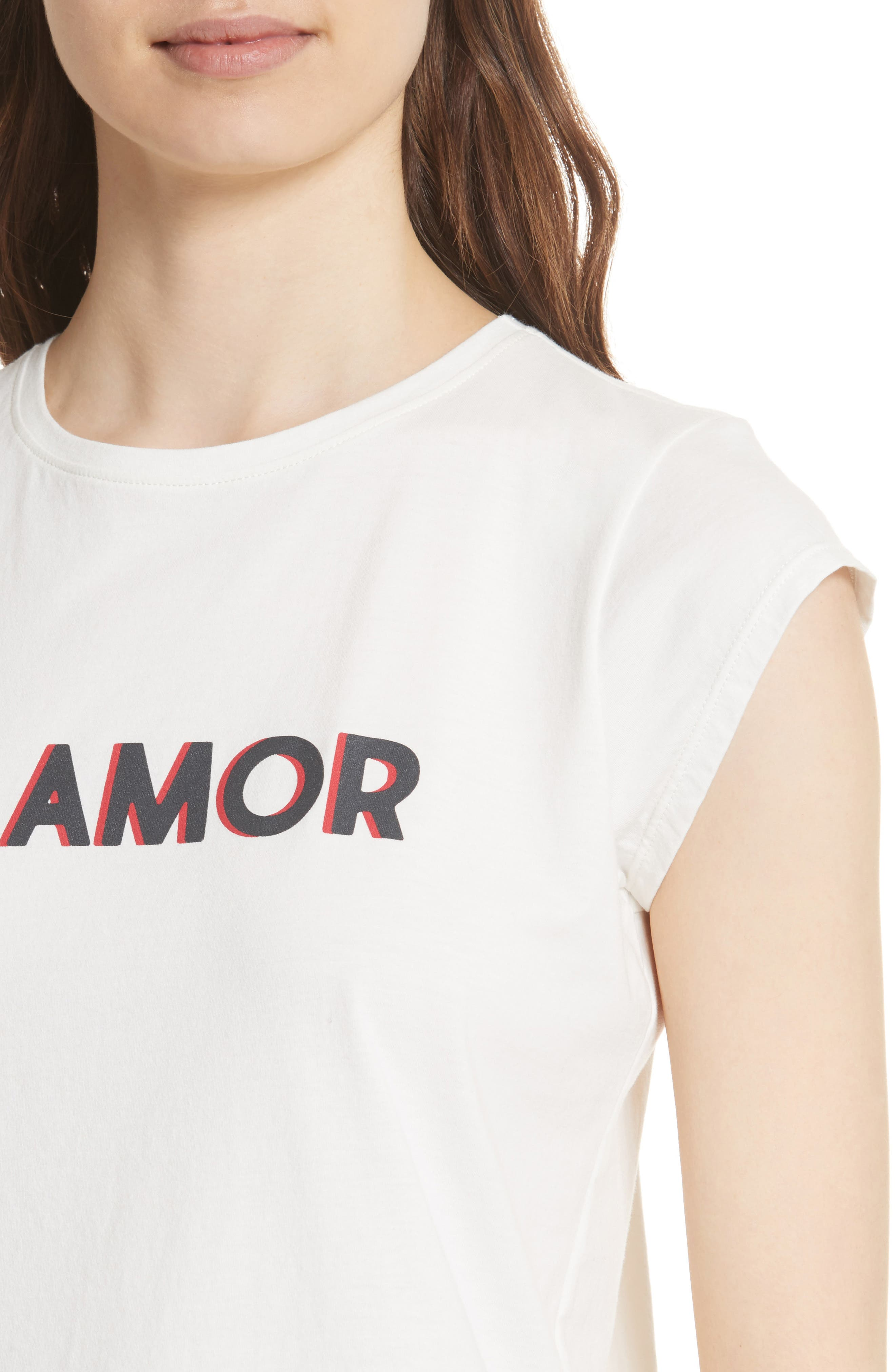 Dillion C Mi Amor Tee,                             Alternate thumbnail 4, color,                             PORCELAIN