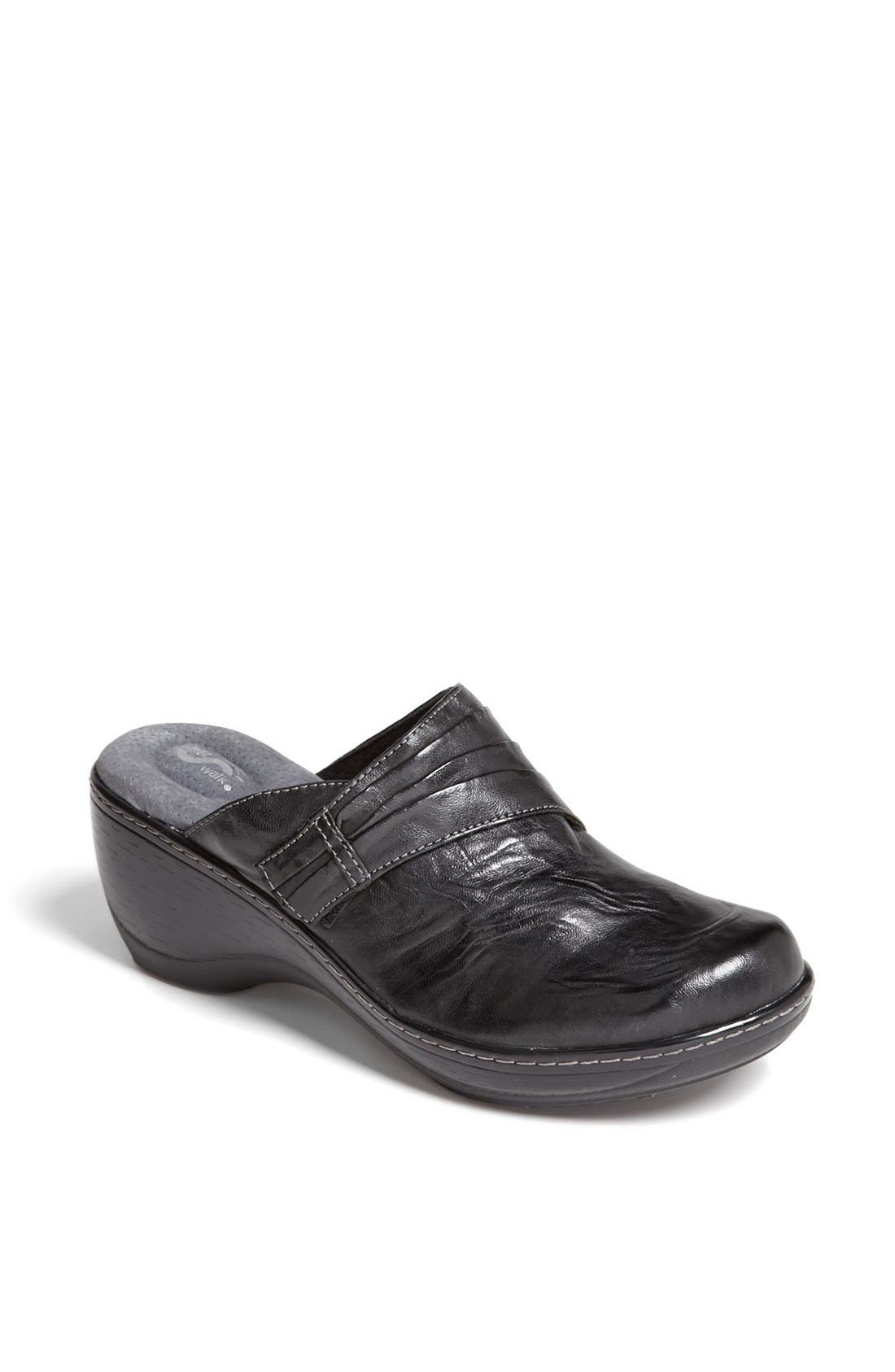 'Mason' Clog,                         Main,                         color, BLACK LEATHER