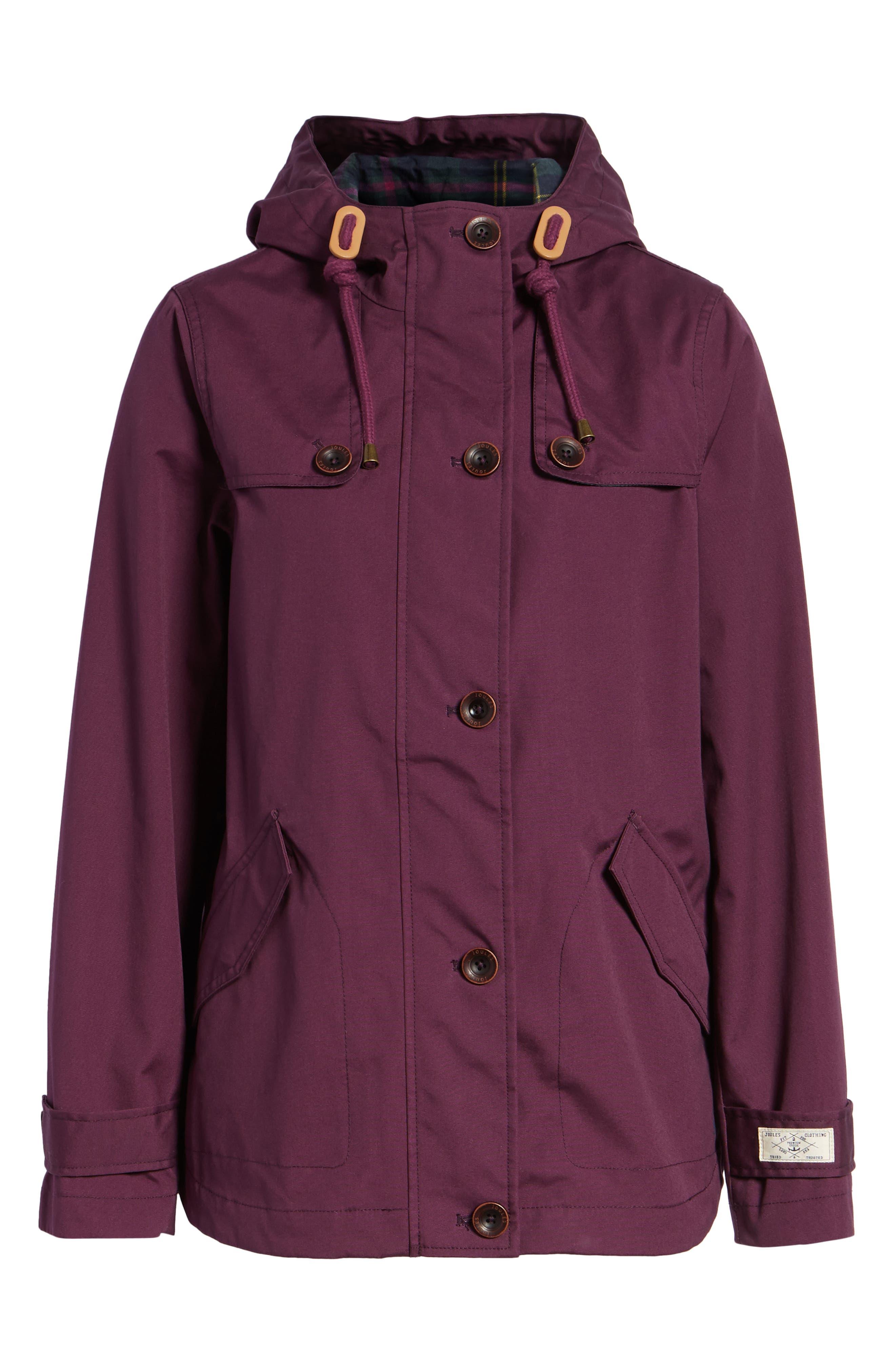JOULES,                             Right as Rain Waterproof Hooded Jacket,                             Alternate thumbnail 6, color,                             930