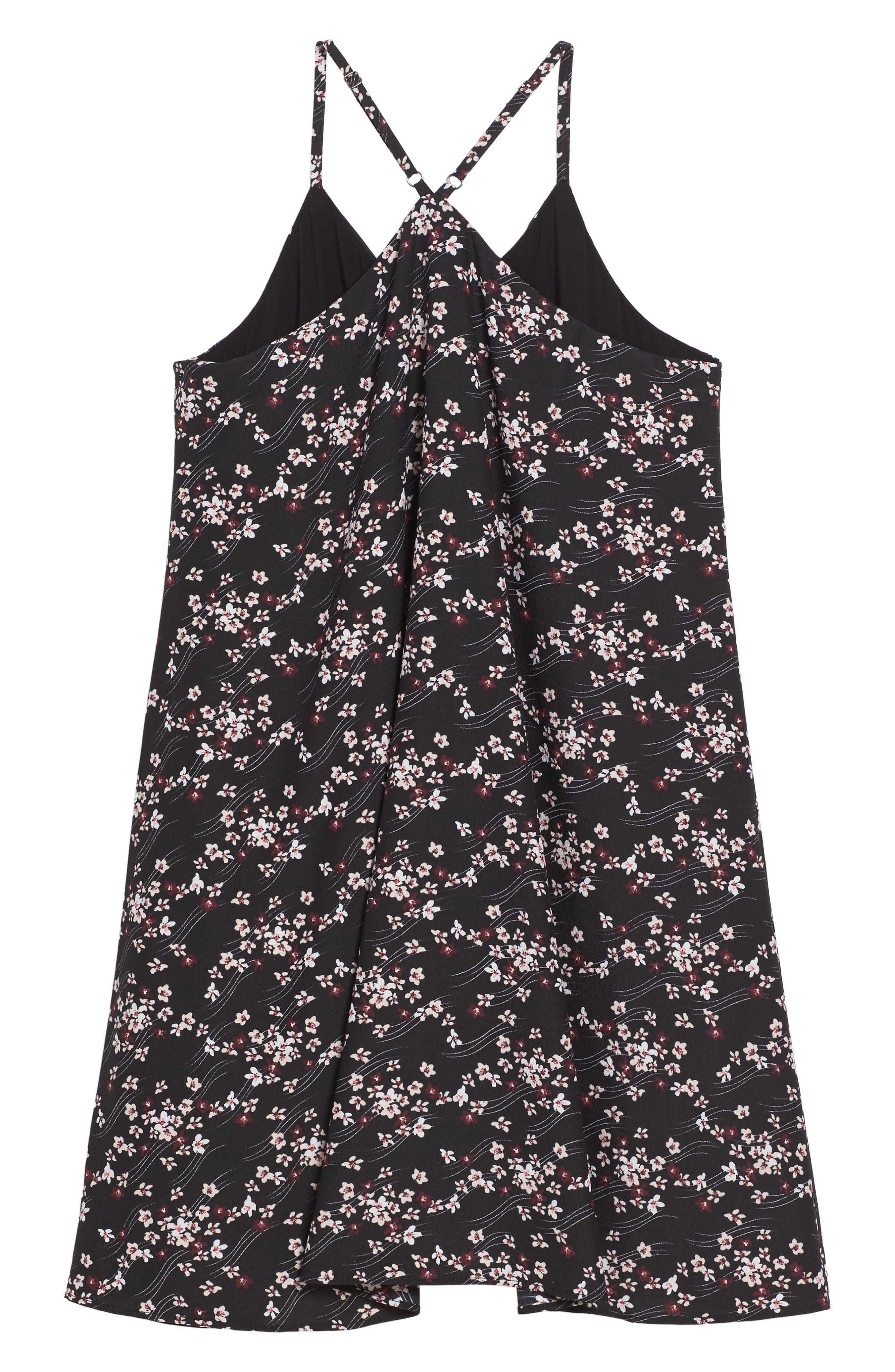 Floral Print Slip Dress,                             Alternate thumbnail 2, color,                             002