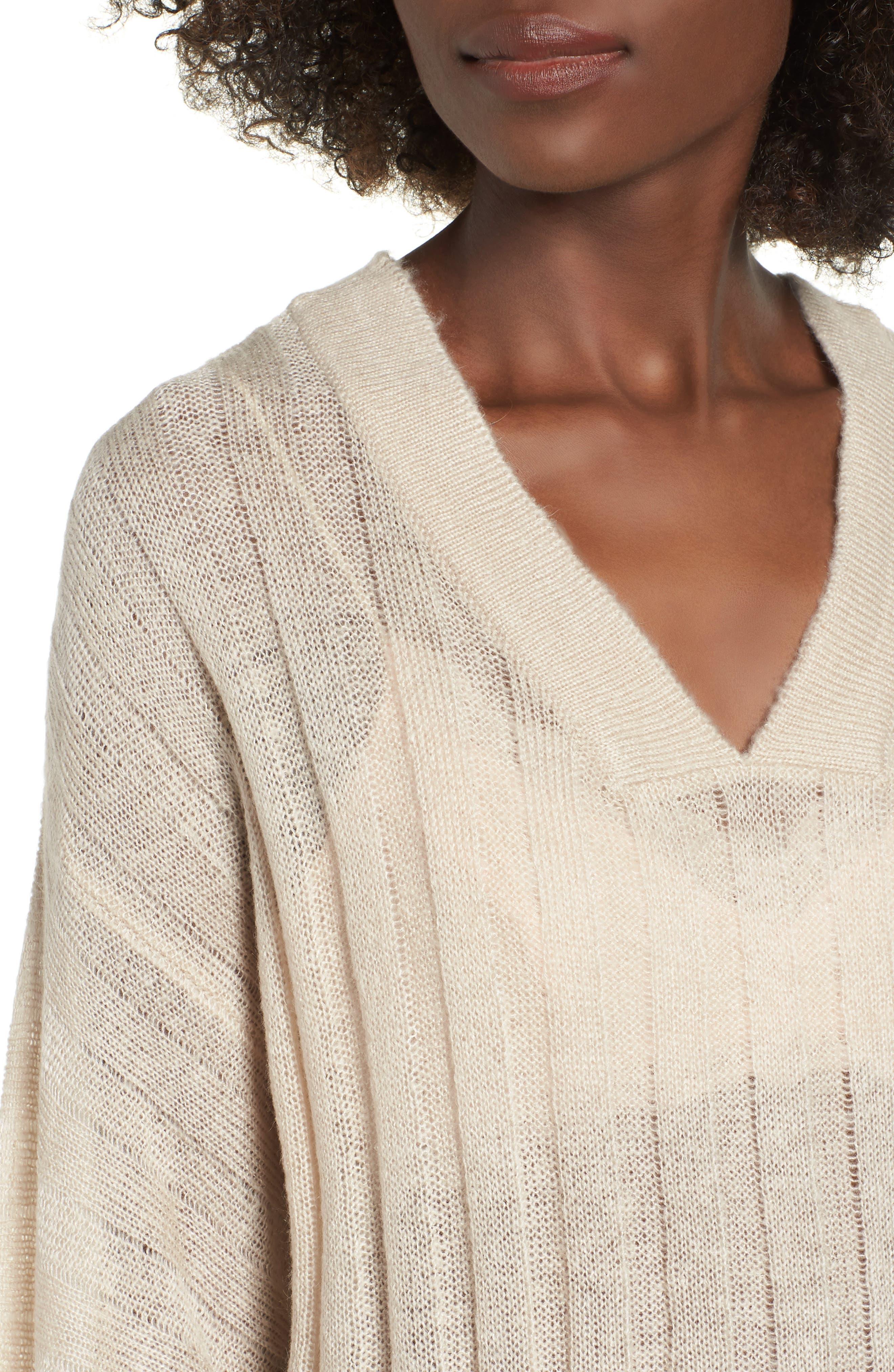 Rib Knit Sweater,                             Alternate thumbnail 4, color,                             900