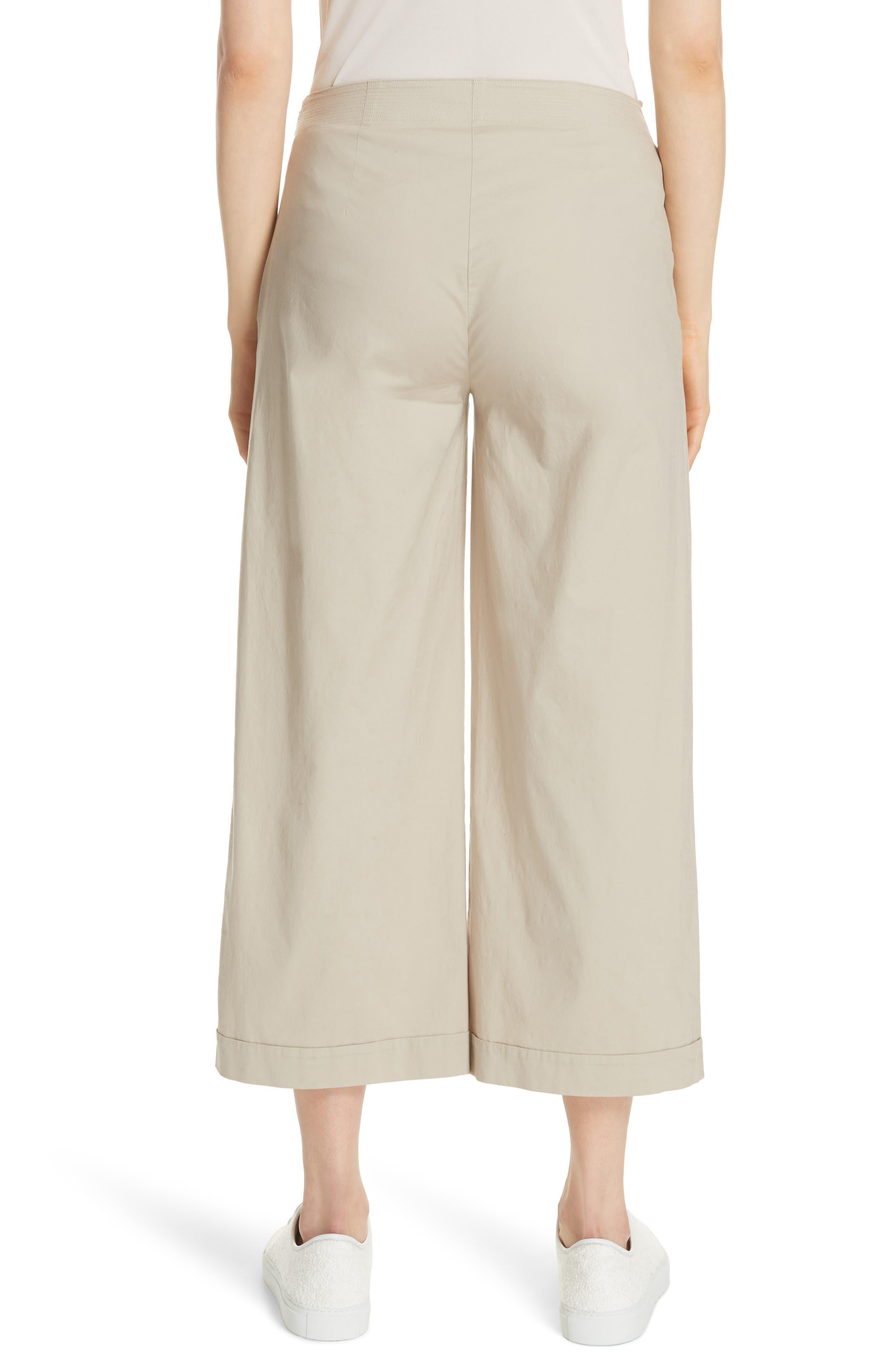 Crop Wide Leg Trouser,                             Alternate thumbnail 2, color,                             KHAKI