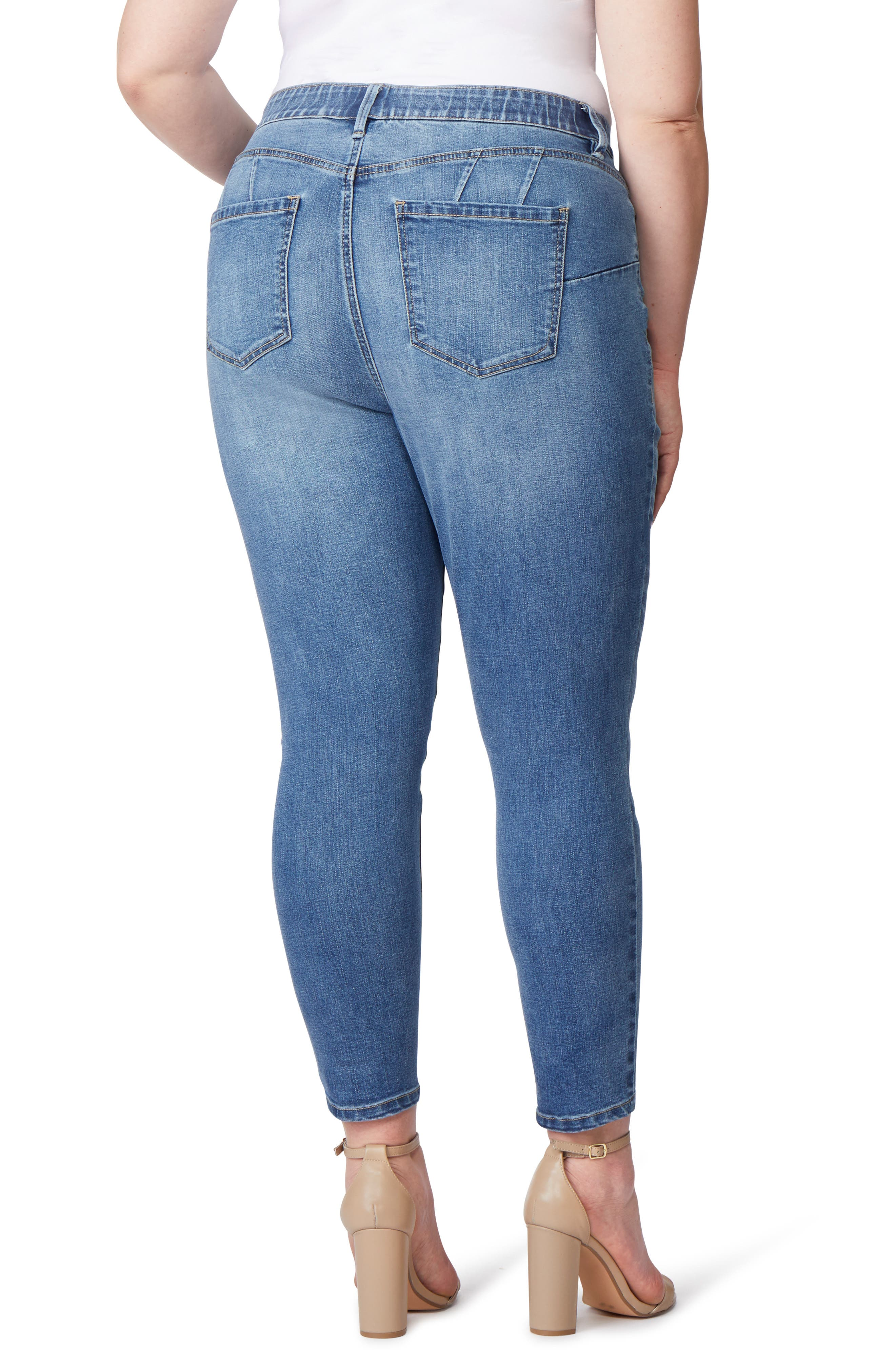 Super Bass Push-Up Skinny Jeans,                             Alternate thumbnail 2, color,                             INGLEWOOD