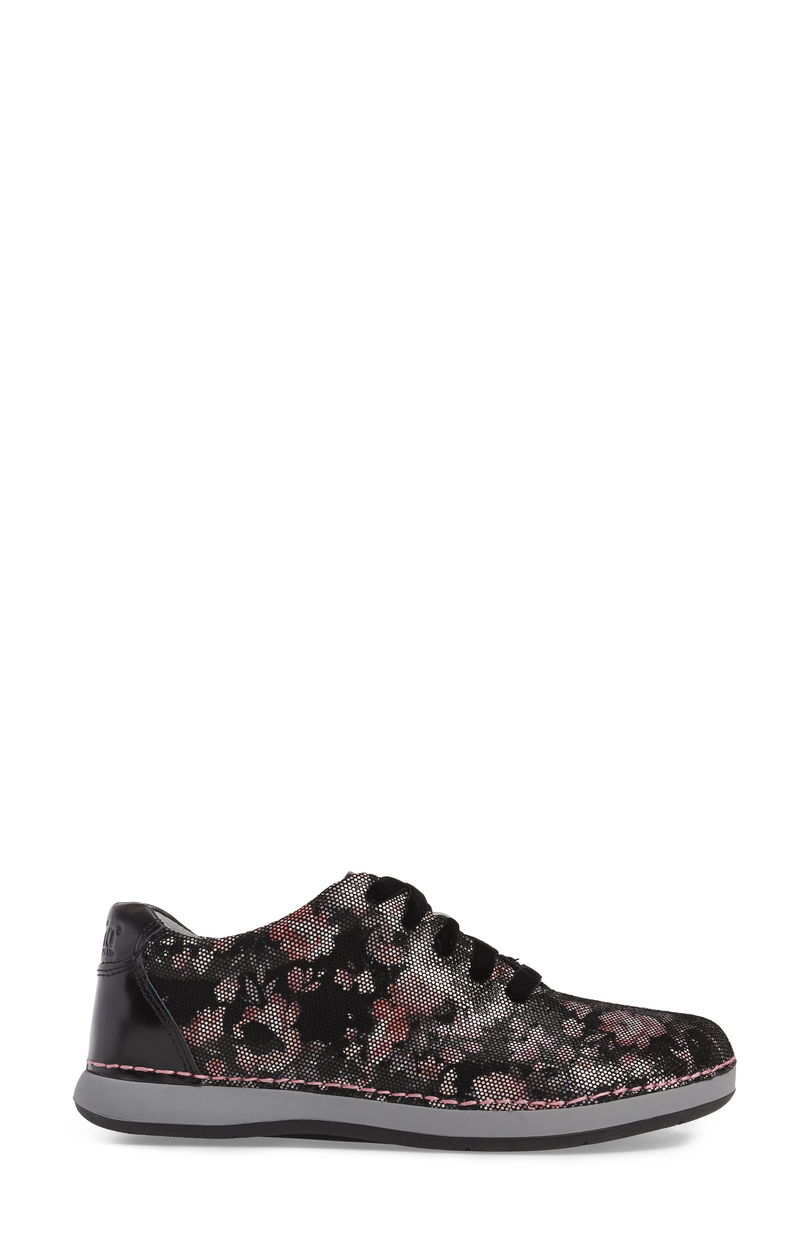 Essence Lace-Up Leather Oxford,                             Alternate thumbnail 3, color,                             001