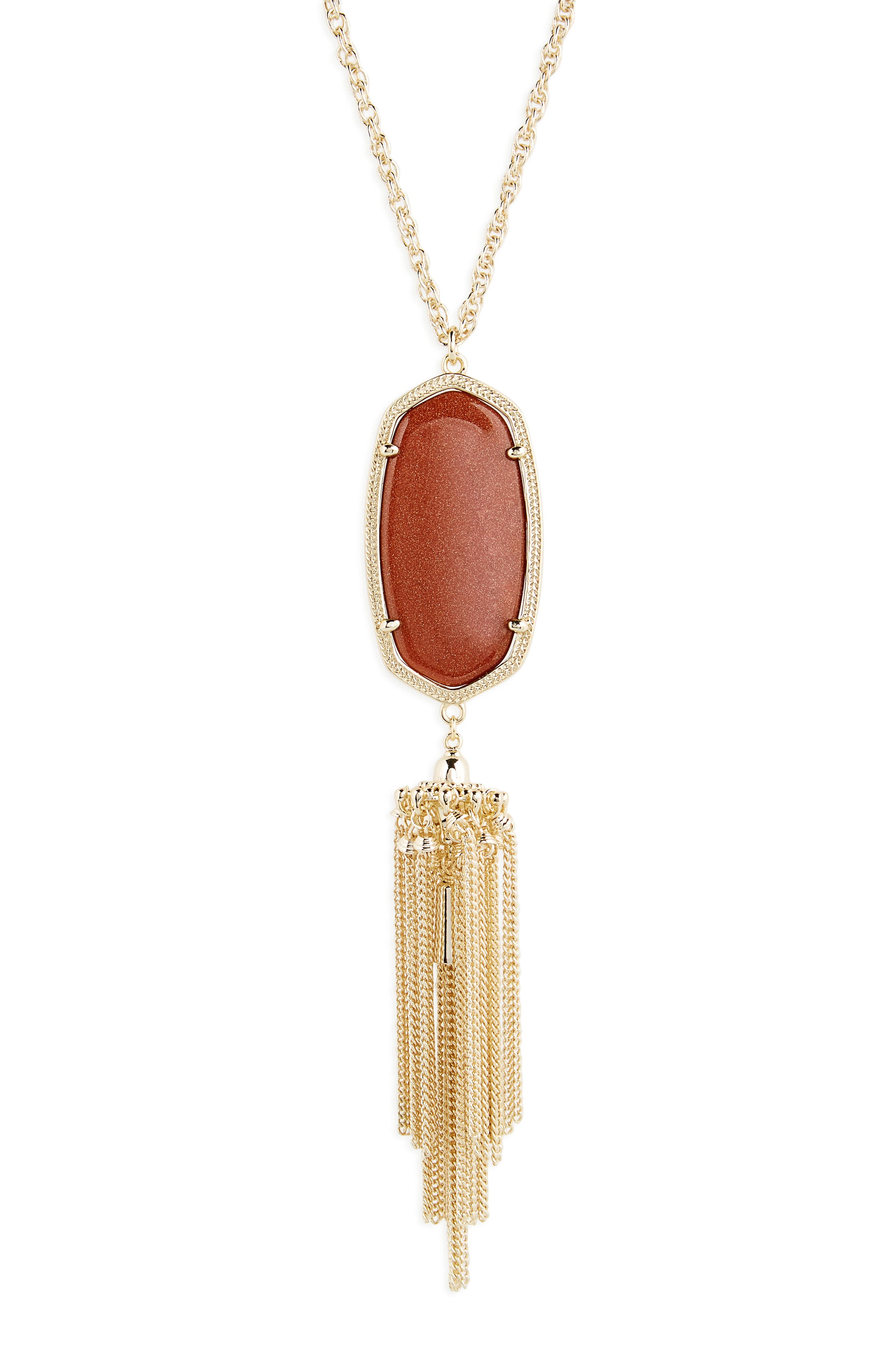 Rayne Stone Tassel Pendant Necklace,                             Alternate thumbnail 178, color,