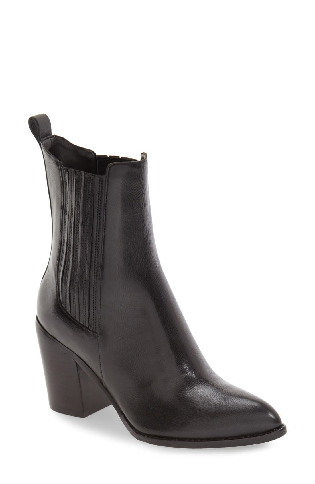 'Alisa' Pointy Toe Chelsea Boot,                         Main,                         color, 001