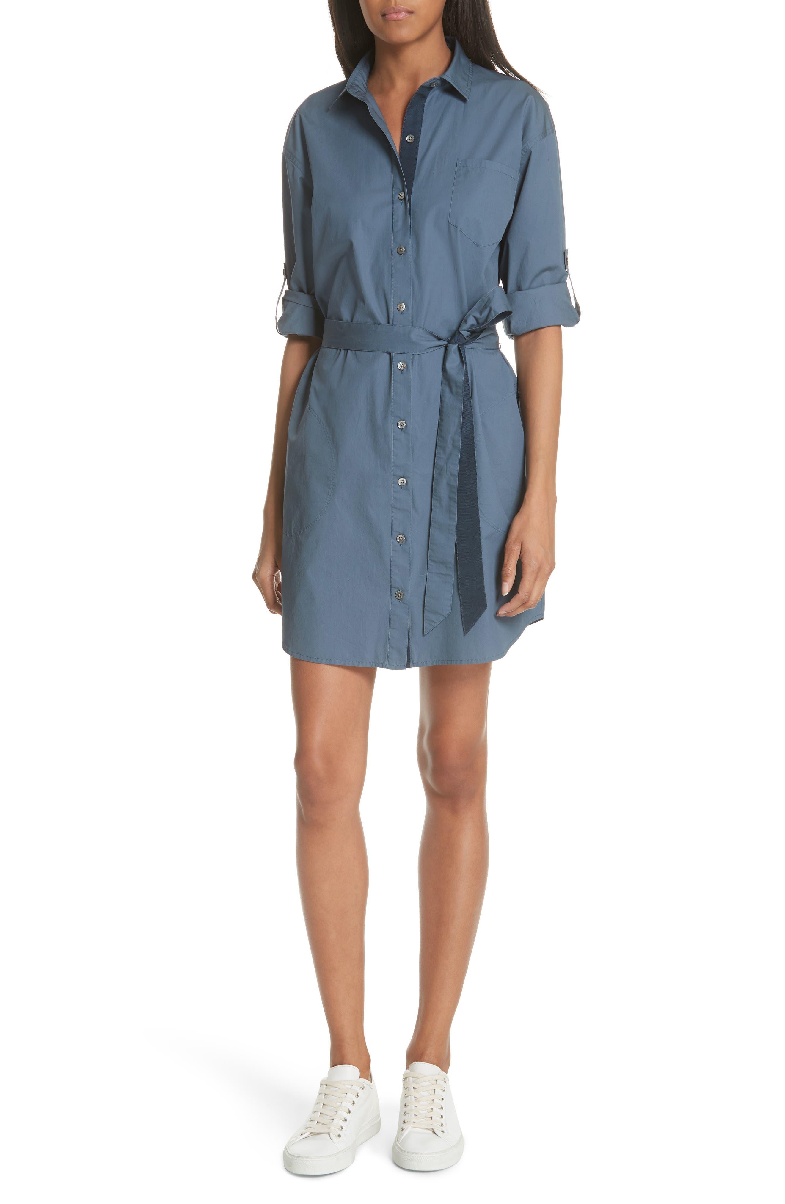 Poplin Shirtdress,                         Main,                         color, 434