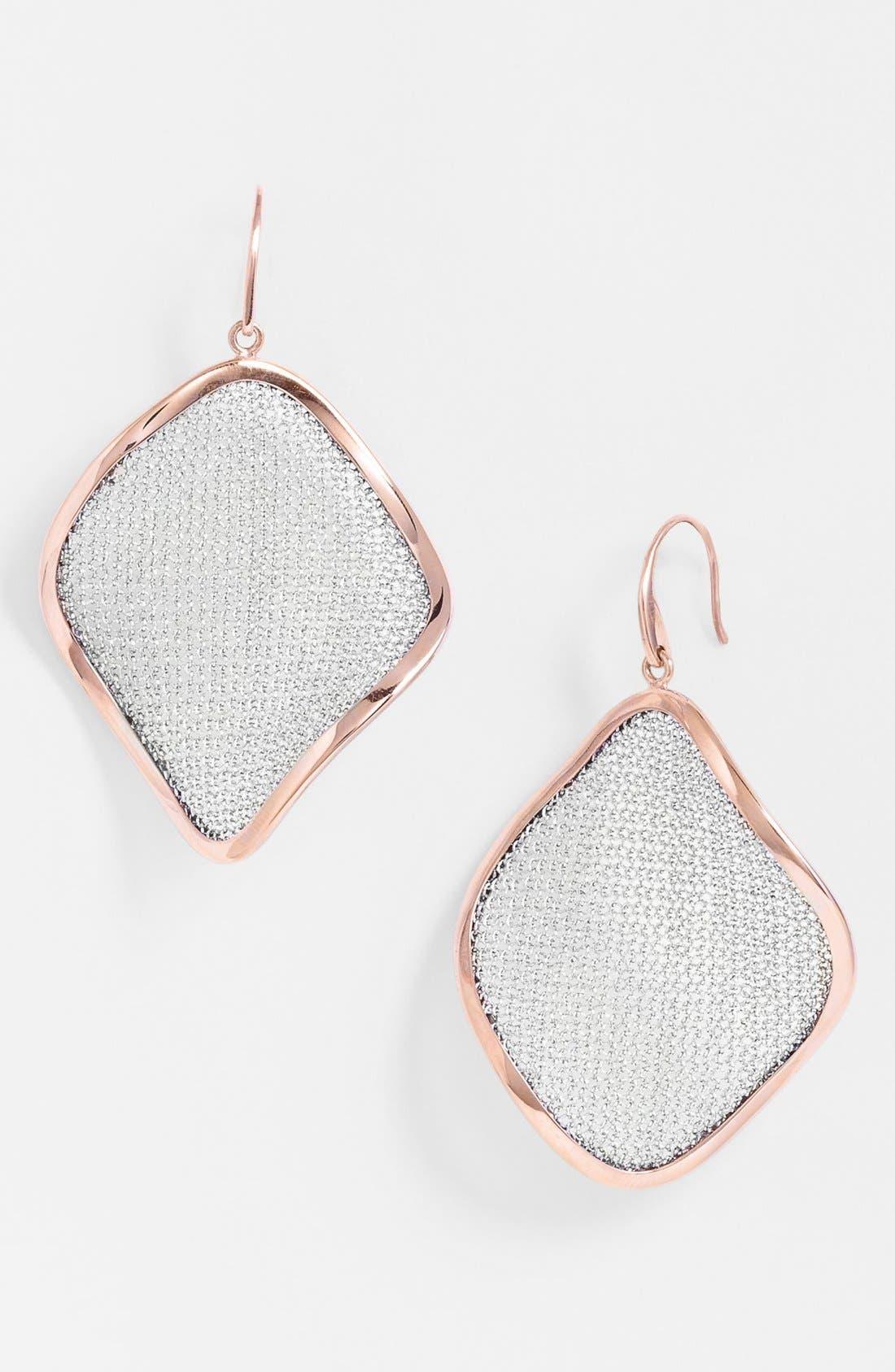 'Mesh' Large Drop Earrings,                             Main thumbnail 3, color,