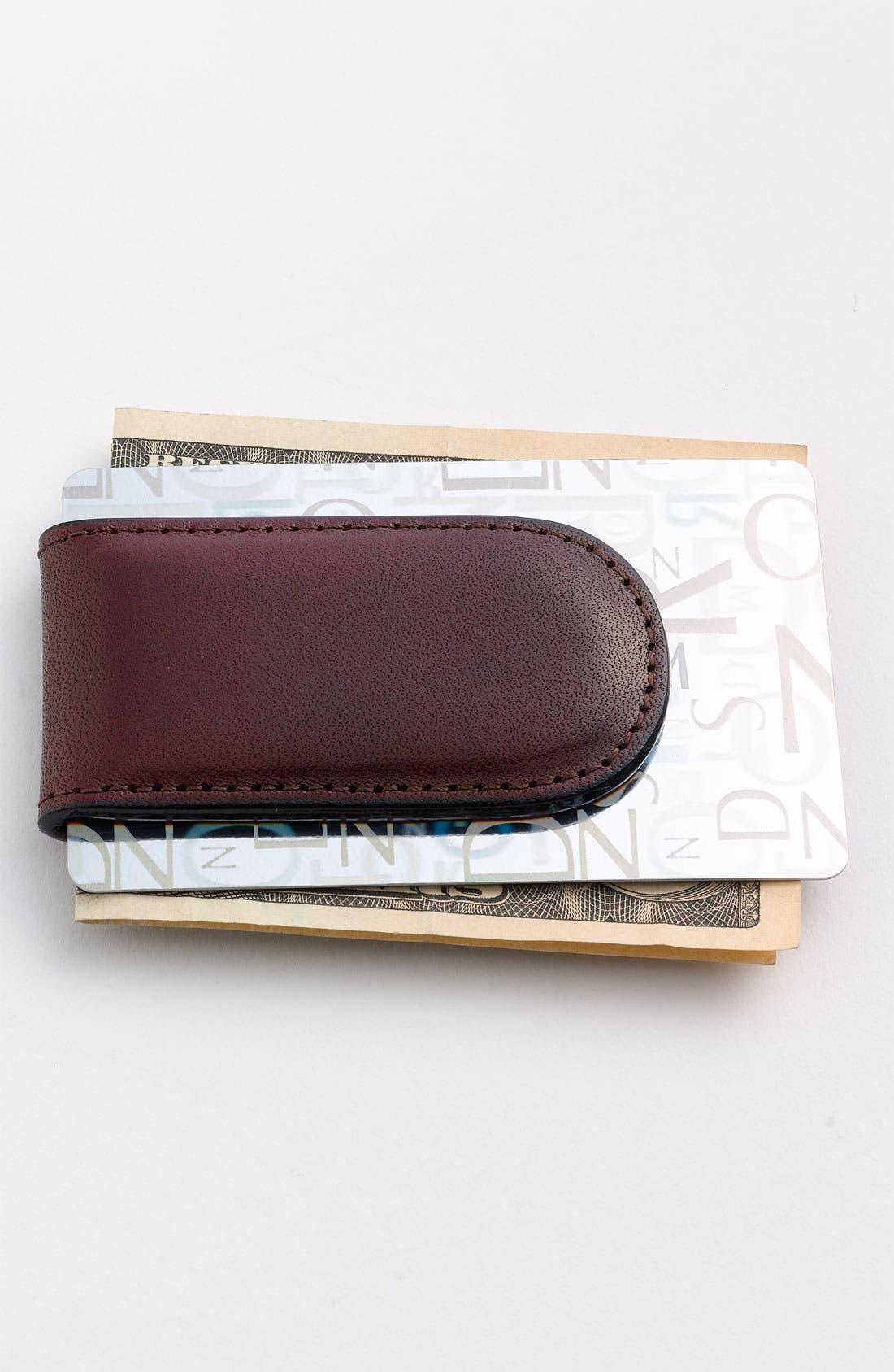 Leather Money Clip,                             Alternate thumbnail 12, color,