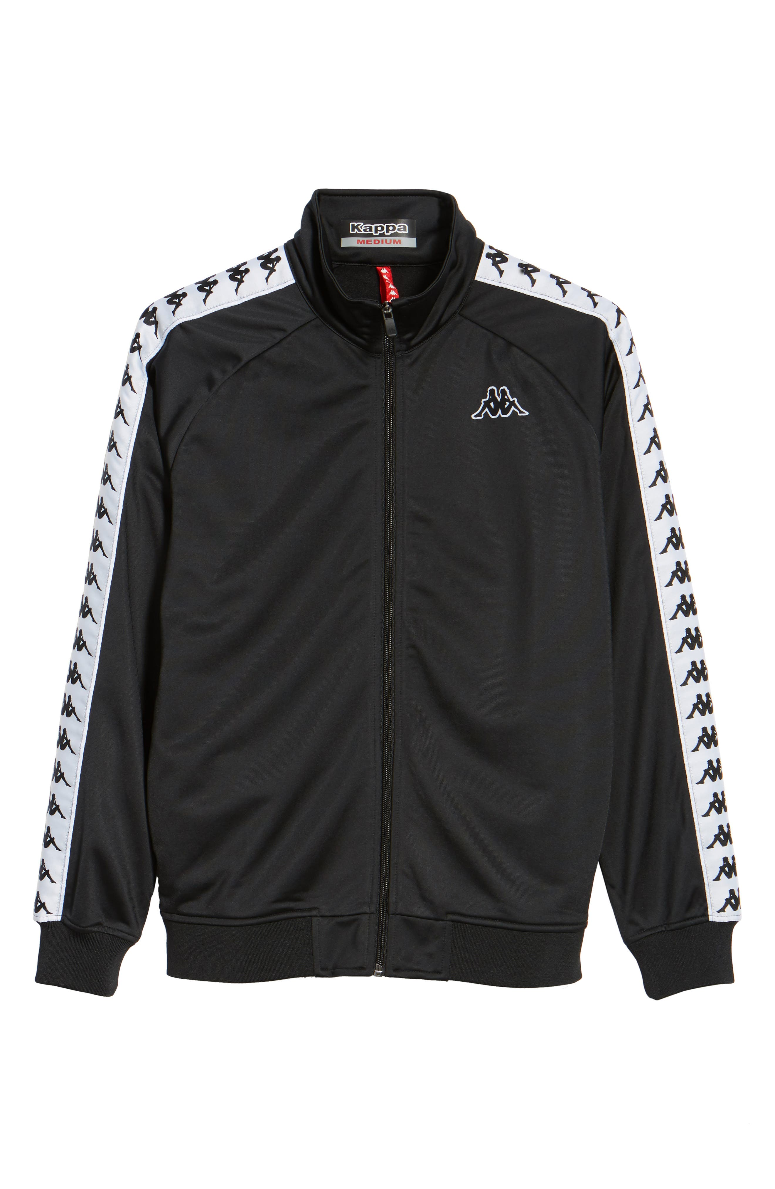 Anniston Slim Fit Knit Track Jacket,                             Alternate thumbnail 7, color,                             001