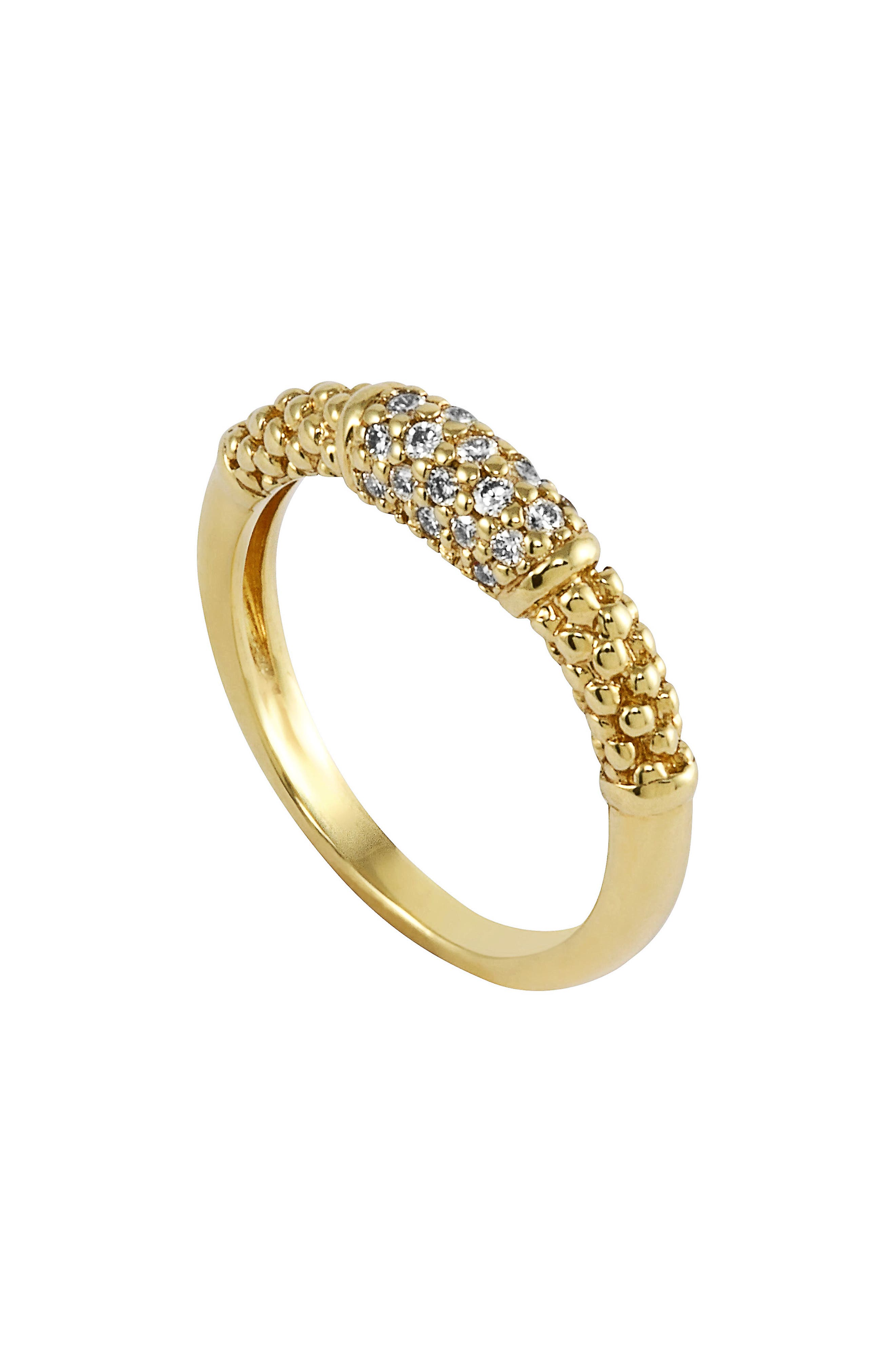 Caviar Diamond Ring,                             Main thumbnail 1, color,                             GOLD