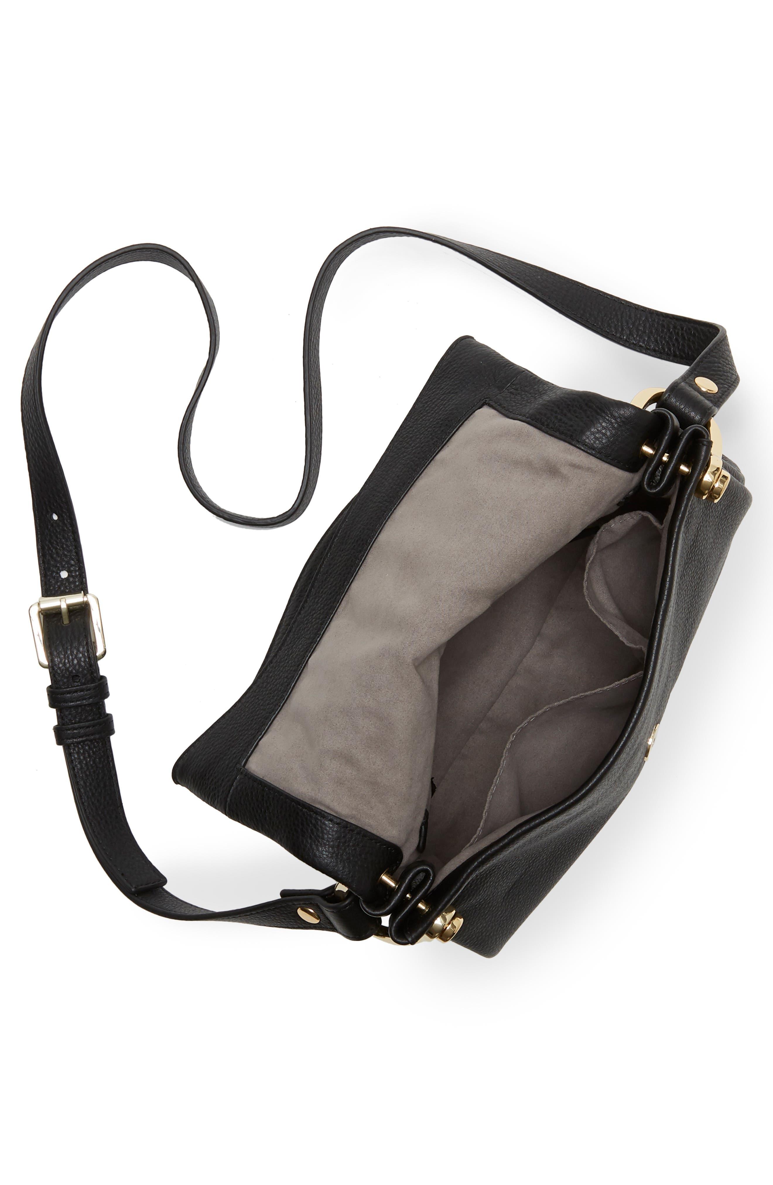 VINCE CAMUTO,                             Clem Leather Crossbody Bag,                             Alternate thumbnail 3, color,                             001