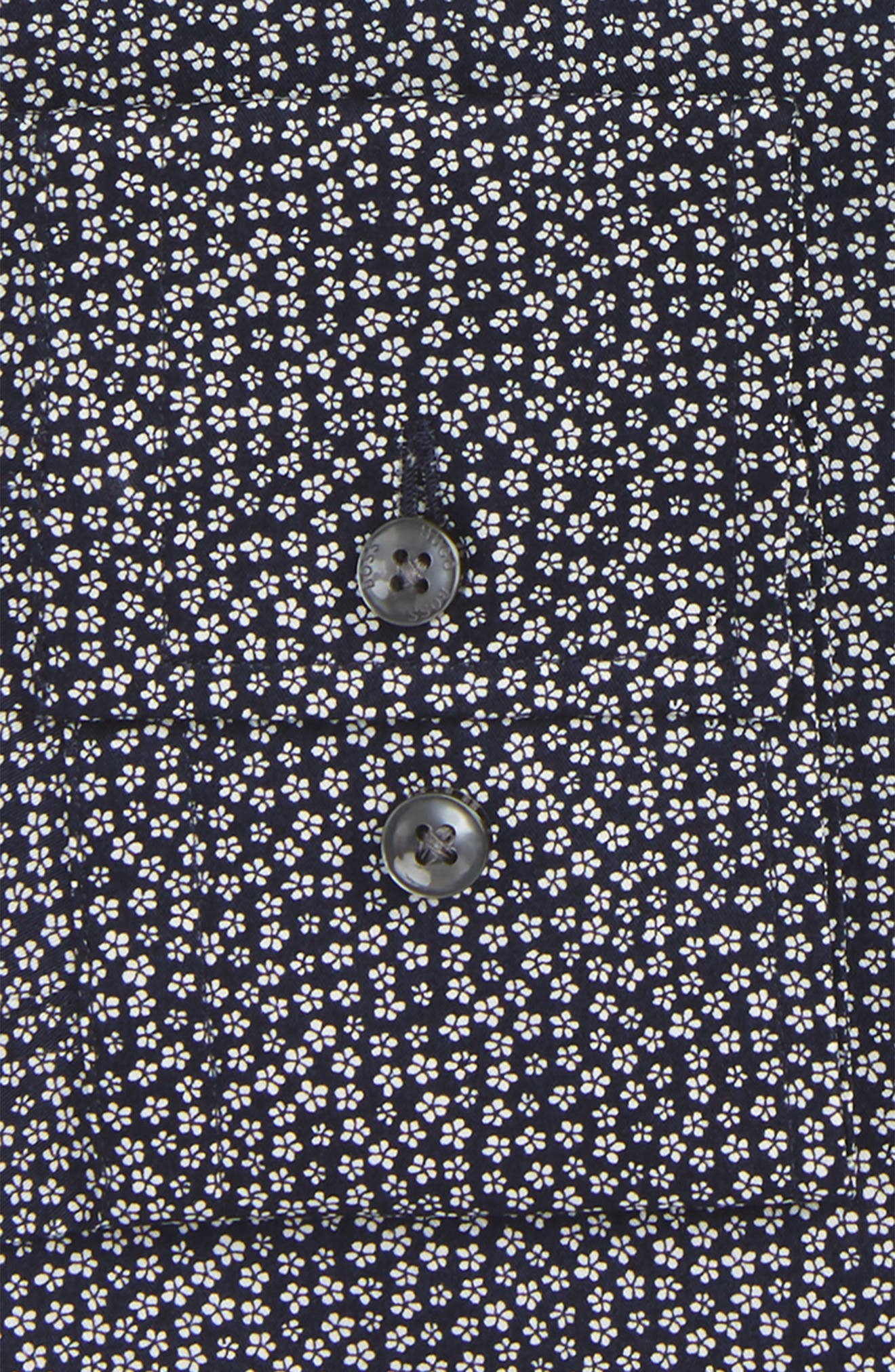 Slim Fit Floral Dress Shirt,                             Alternate thumbnail 2, color,                             410