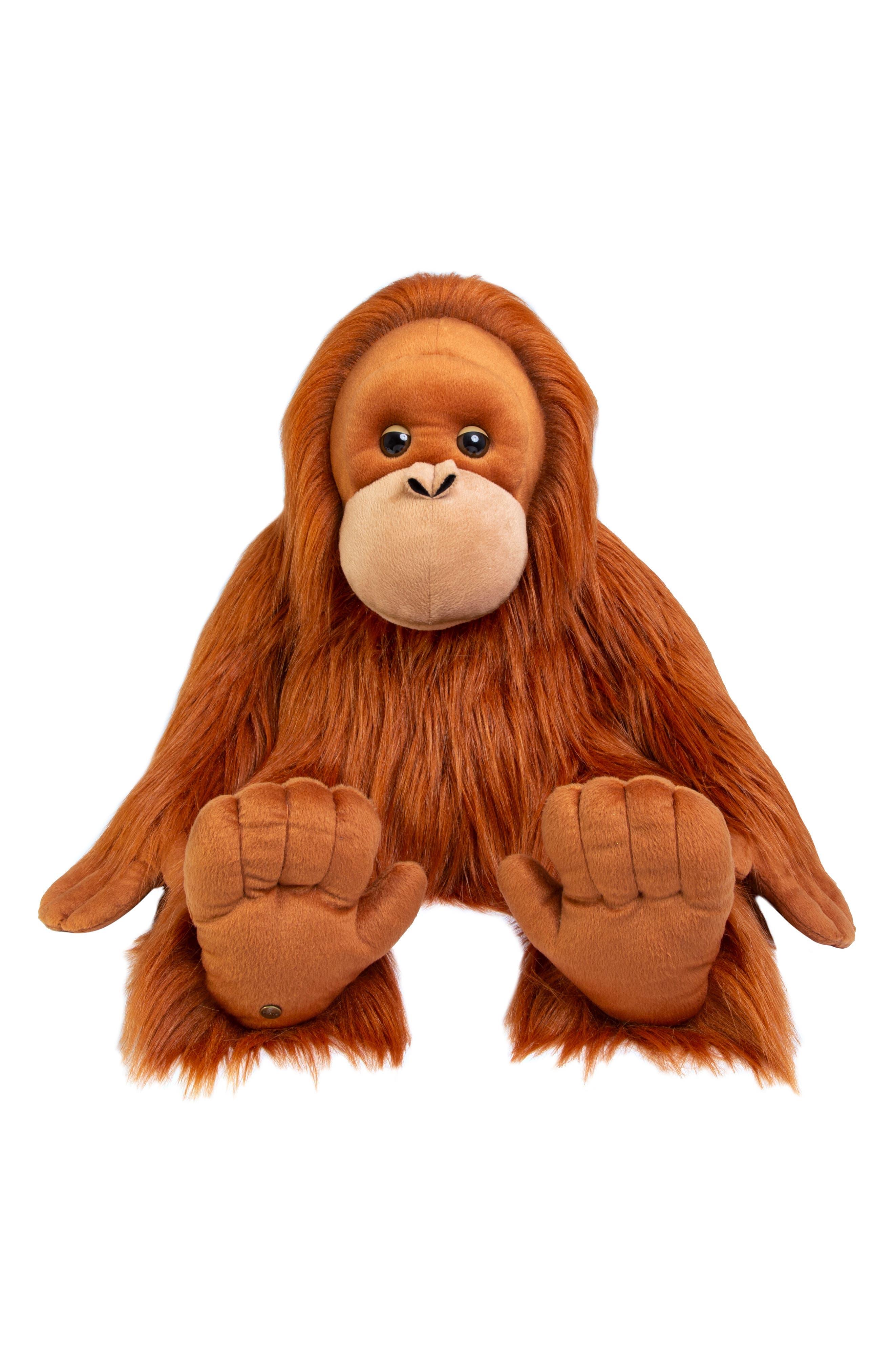 Plush Monkey,                             Main thumbnail 1, color,                             BROWN