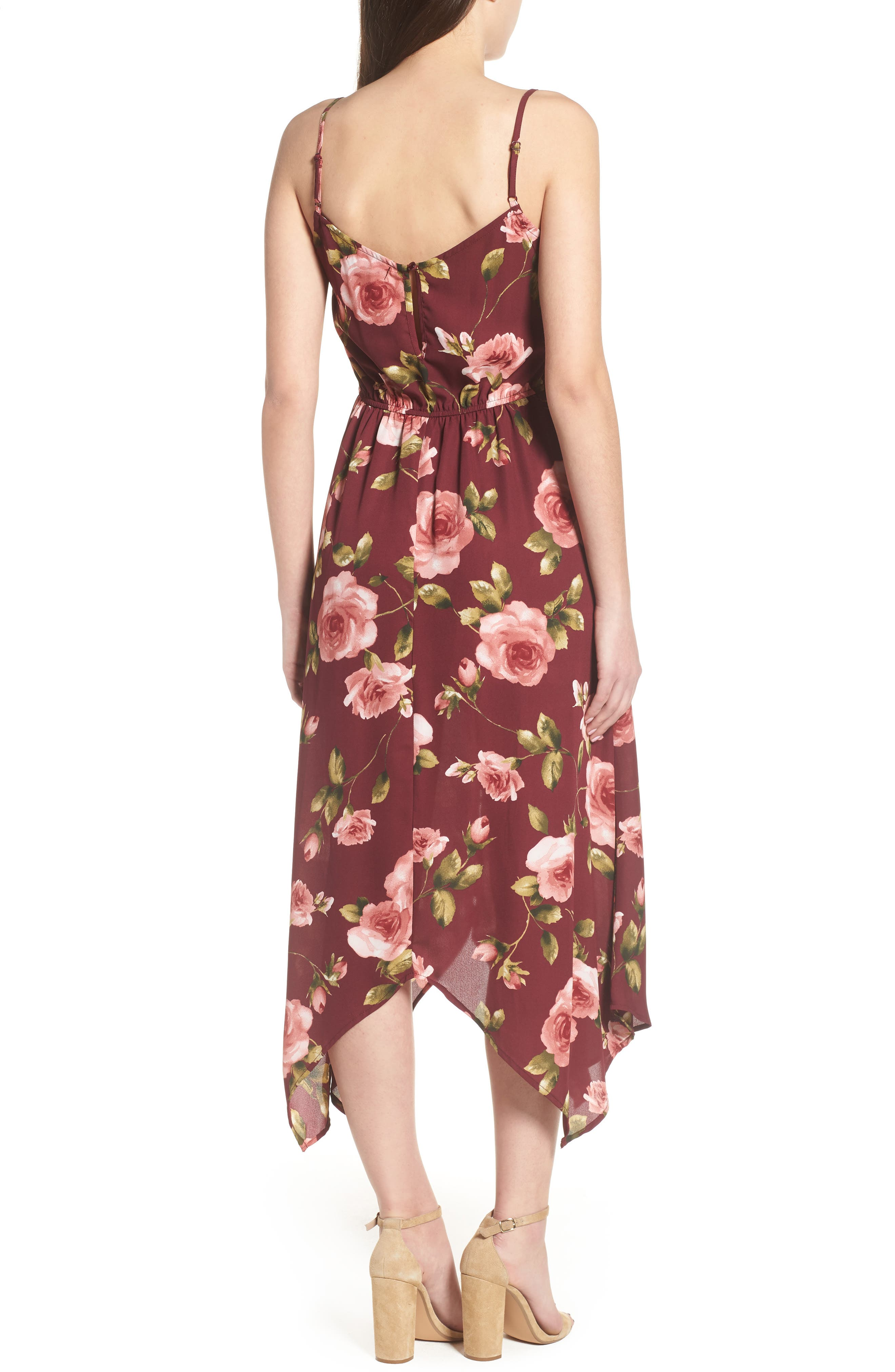 Floral Midi Romper,                             Alternate thumbnail 2, color,                             930