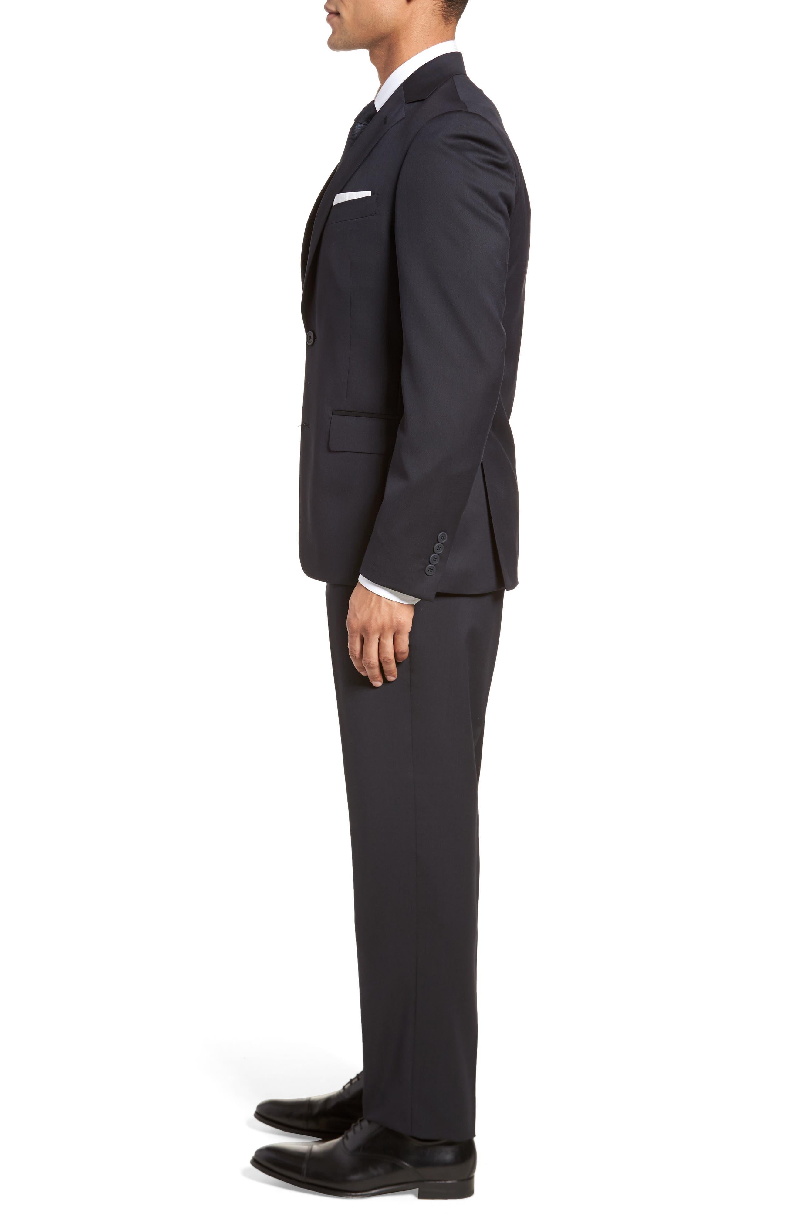 Trim Fit Solid Wool Suit,                             Alternate thumbnail 9, color,