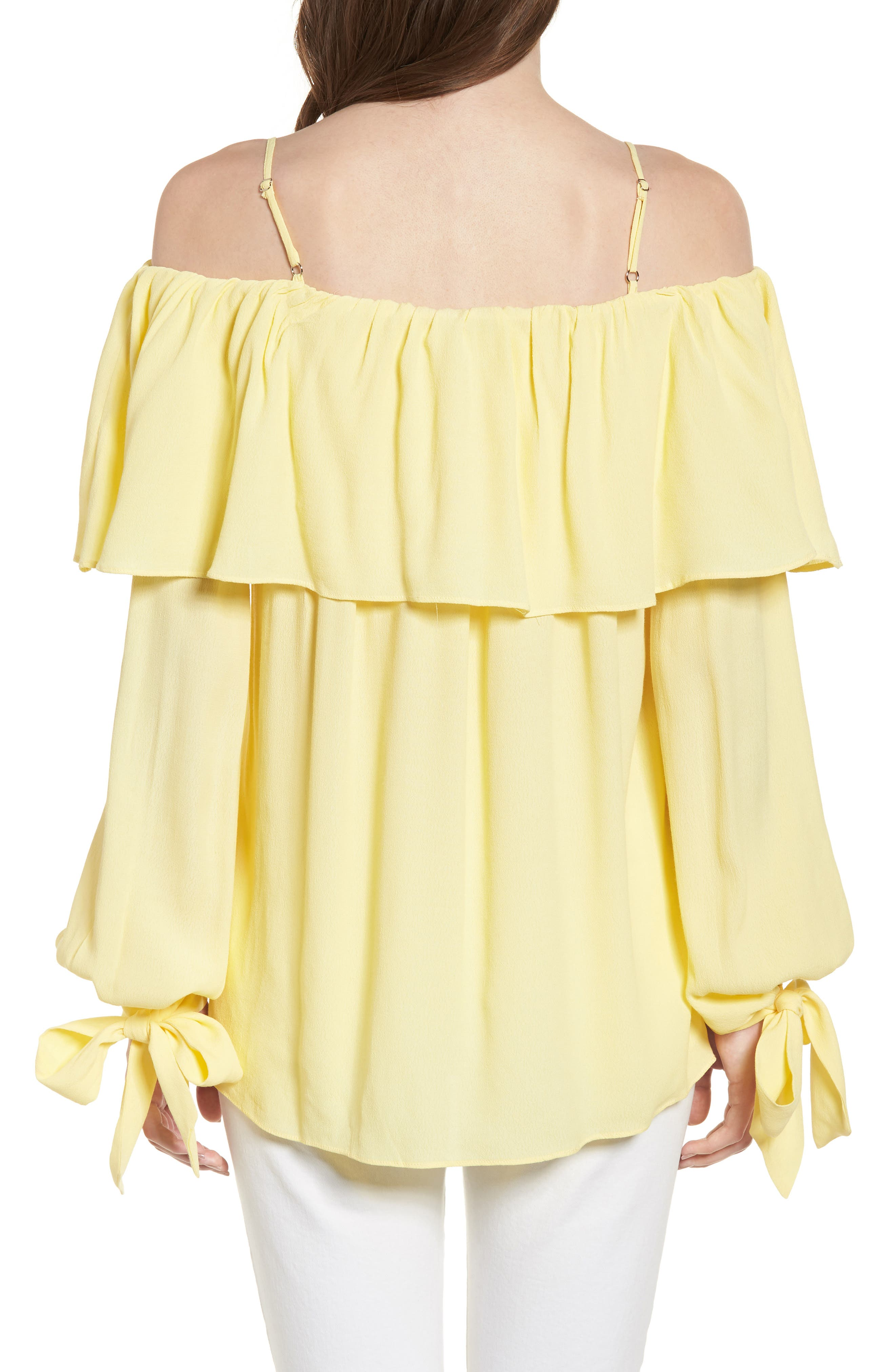 Chorus Off the Shoulder Tie Sleeve Top,                             Alternate thumbnail 2, color,                             700