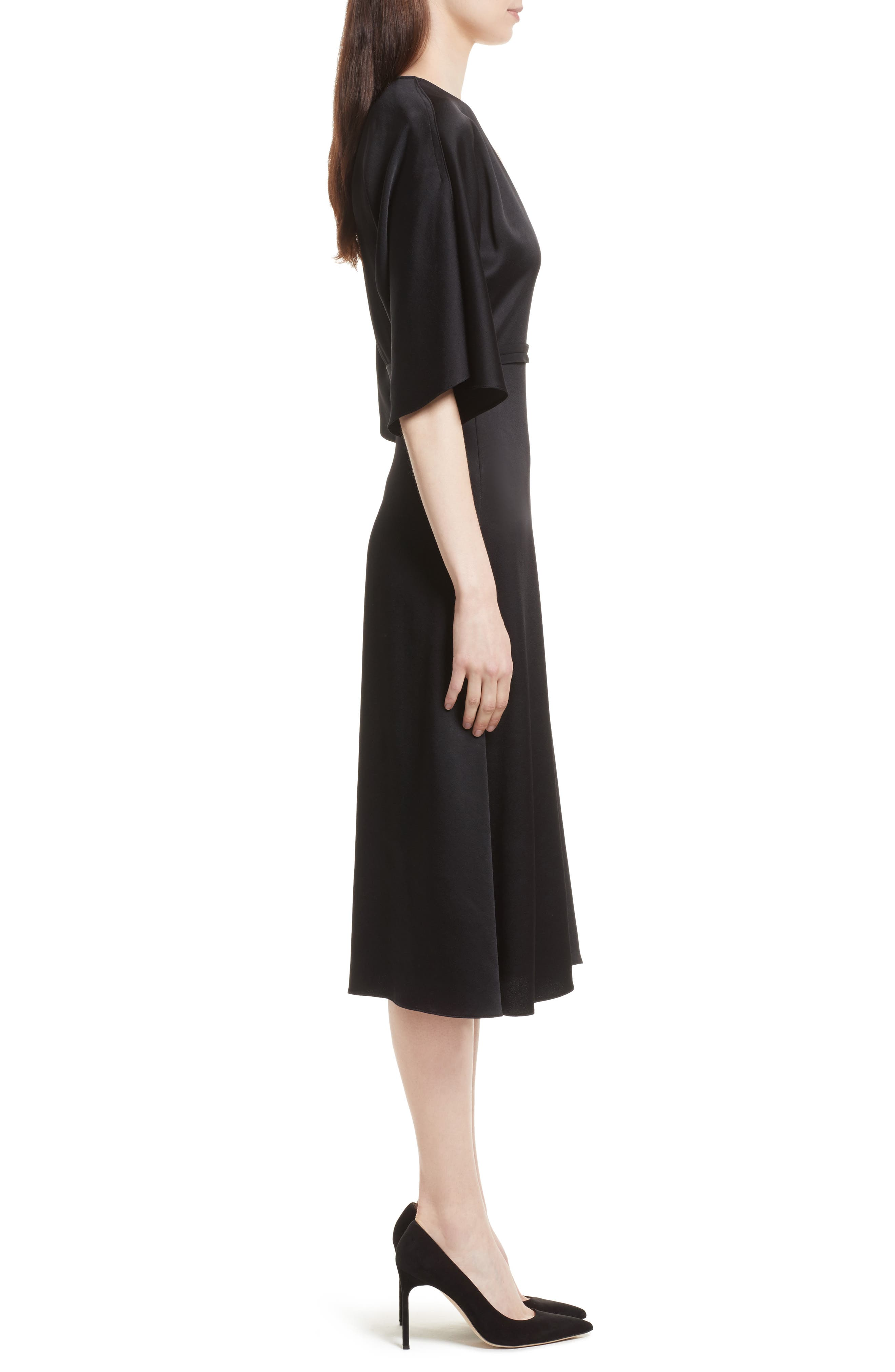 Kensington Midi Dress,                             Alternate thumbnail 3, color,                             001