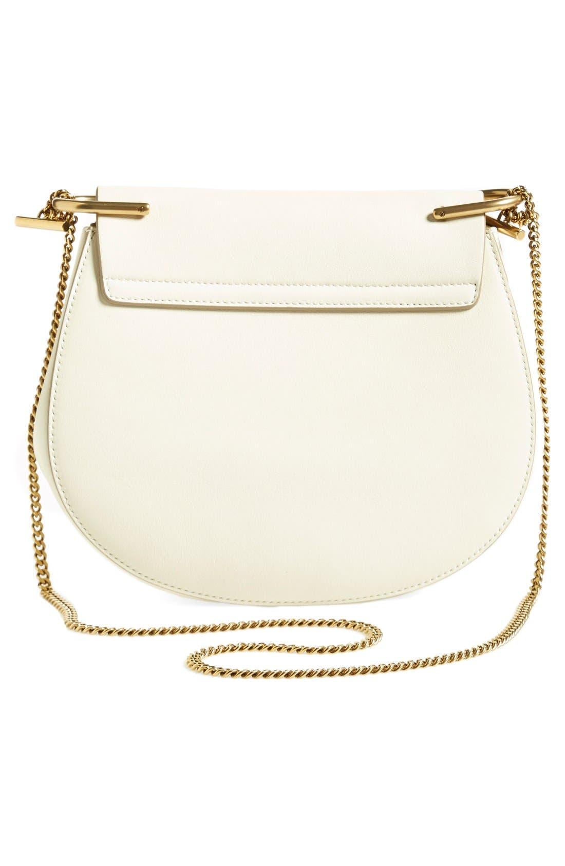 'Mini Drew' Calfskin Leather Shoulder Bag,                             Alternate thumbnail 2, color,                             100