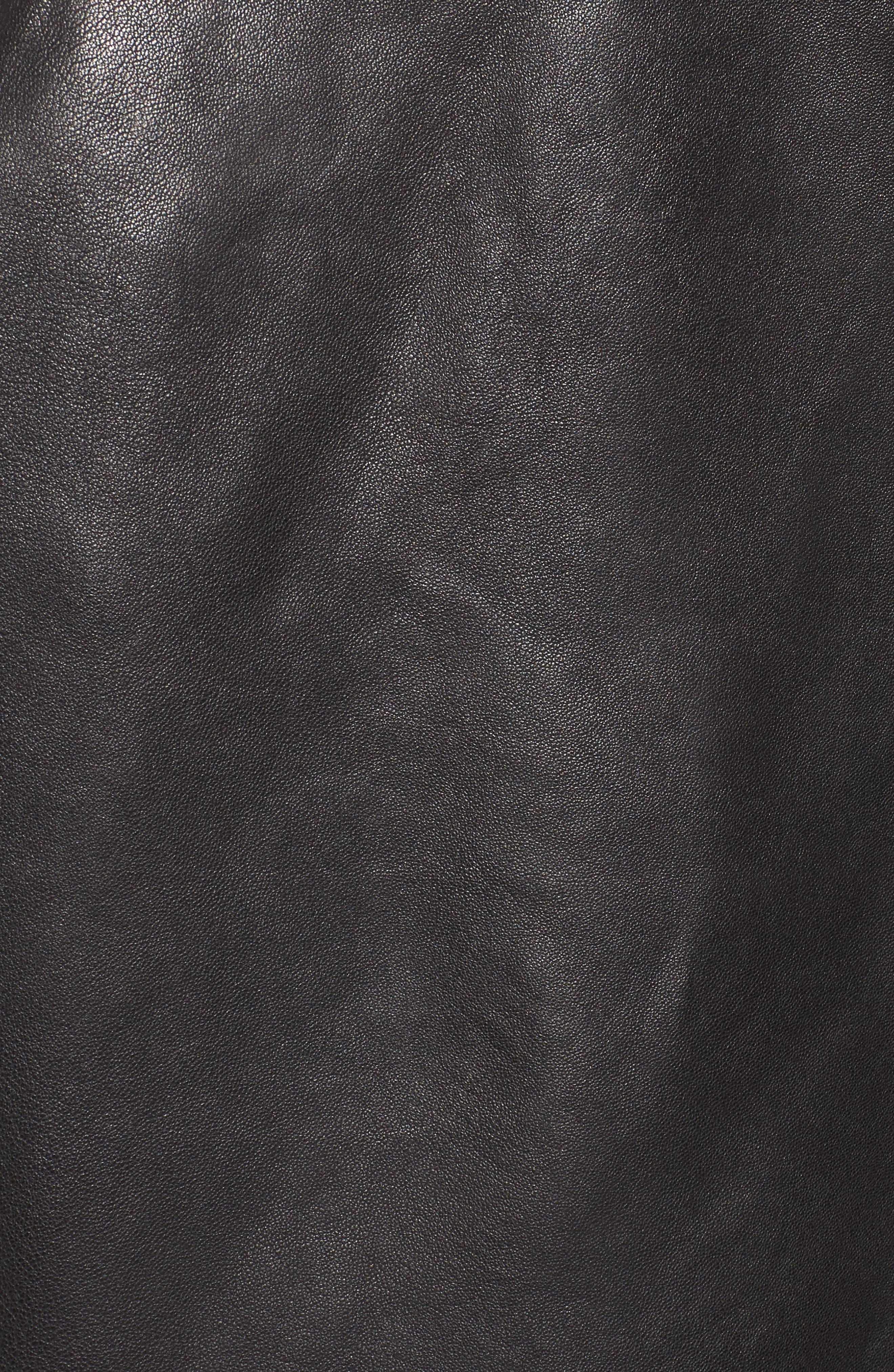 Kirwin Leather Moto Jacket,                             Alternate thumbnail 6, color,                             001