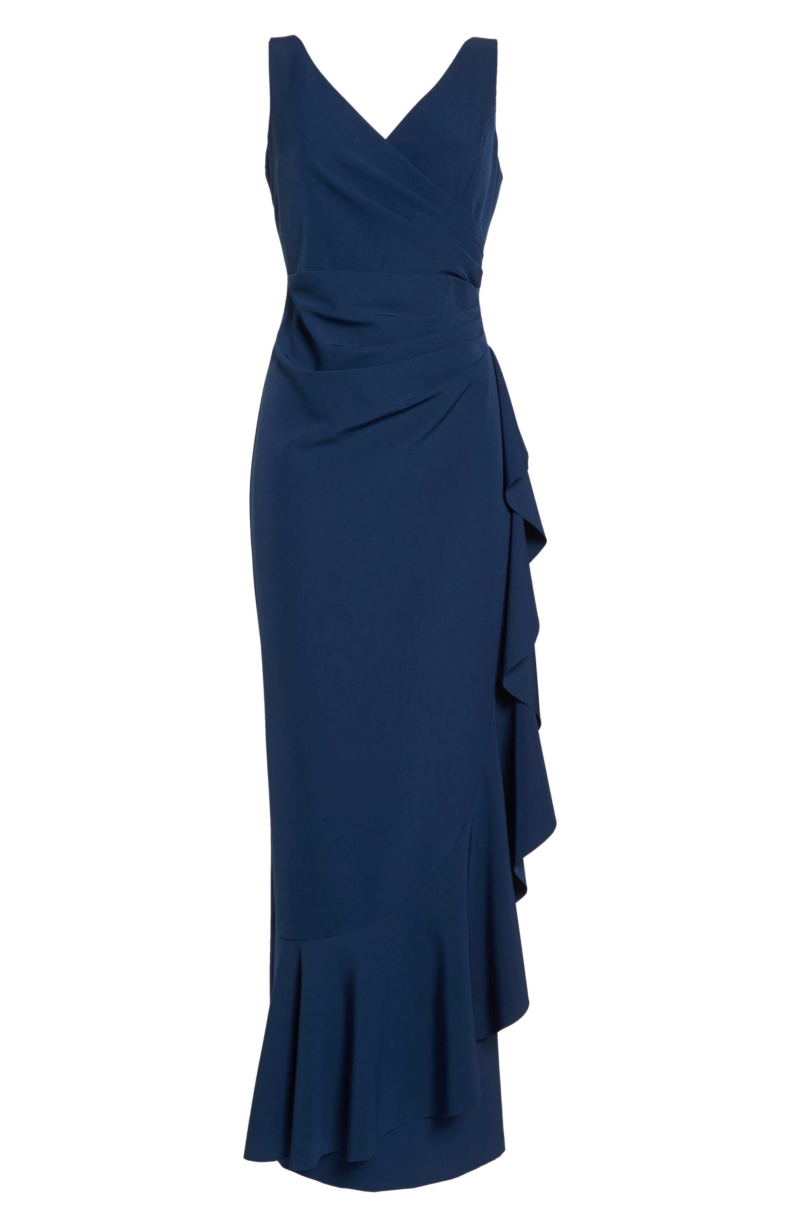 Laguna Faux Wrap Gown,                             Alternate thumbnail 7, color,                             BLUE