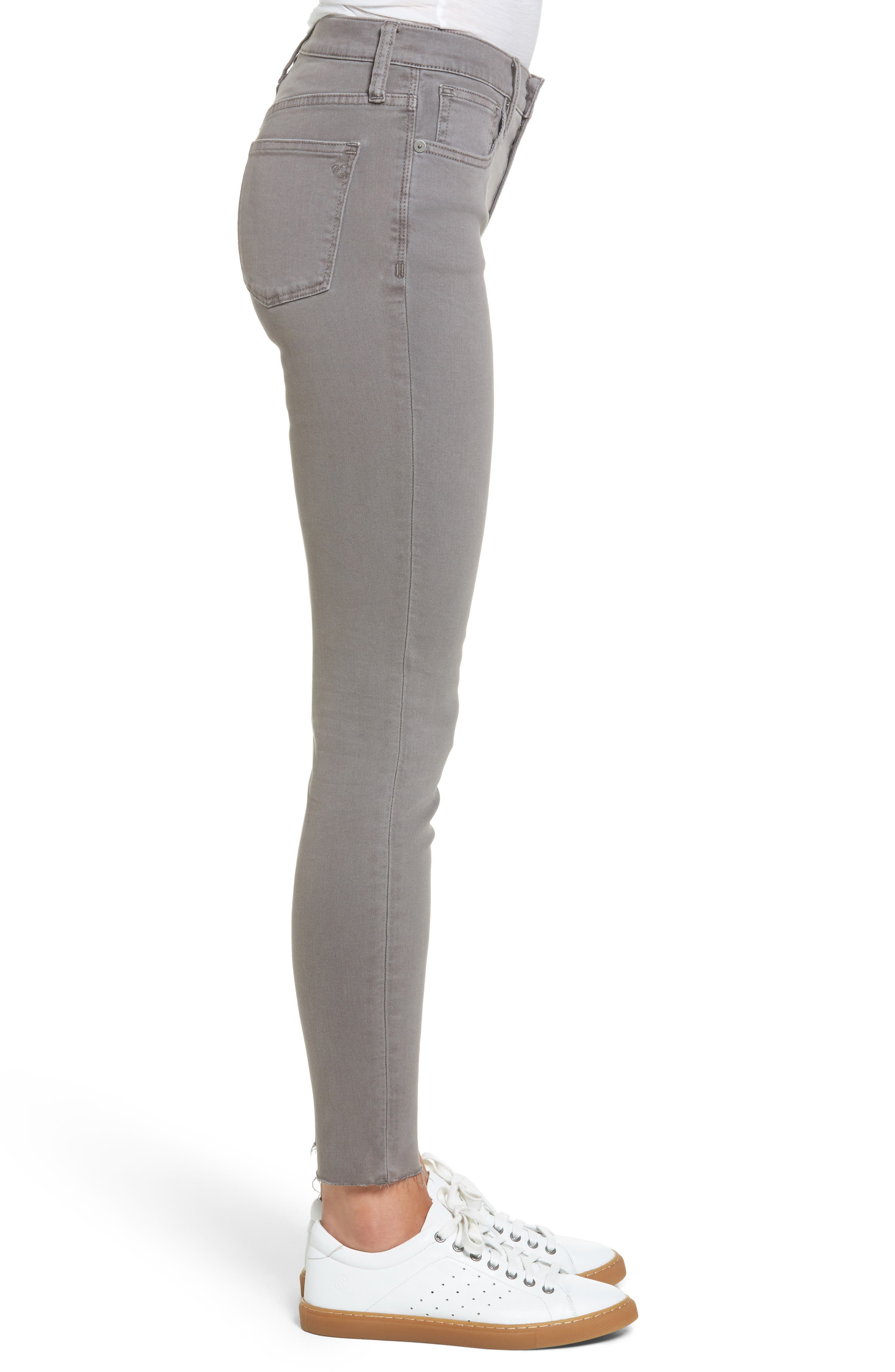 9-Inch High-Rise Skinny Jeans: Raw-Hem Garment-Dyed Edition,                             Alternate thumbnail 5, color,