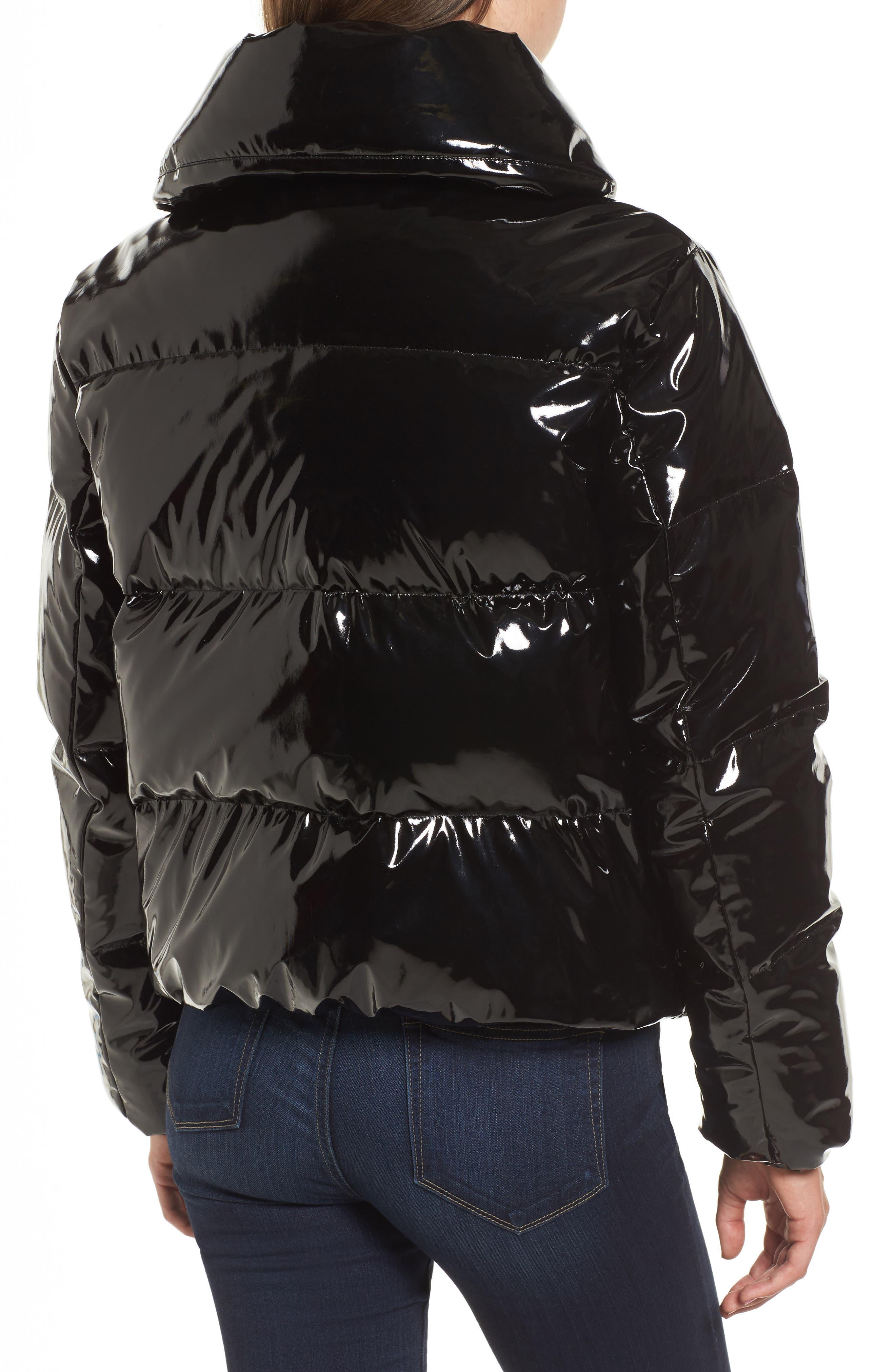 Shiny Puffer Jacket,                             Alternate thumbnail 2, color,                             001