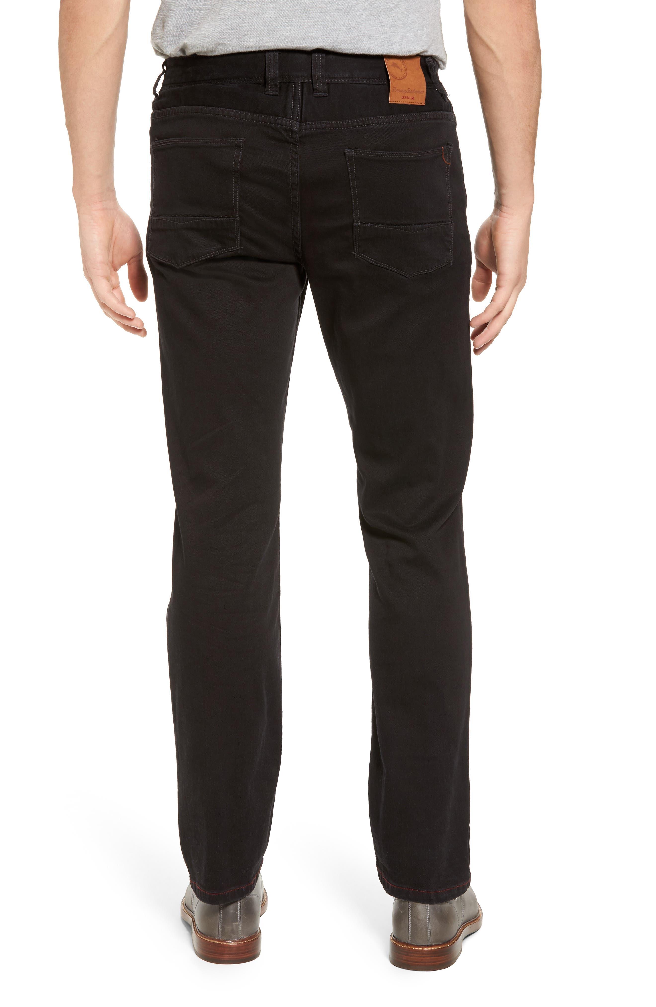 Sand Straight Leg Jeans,                             Alternate thumbnail 2, color,                             BLACK OVERDYE