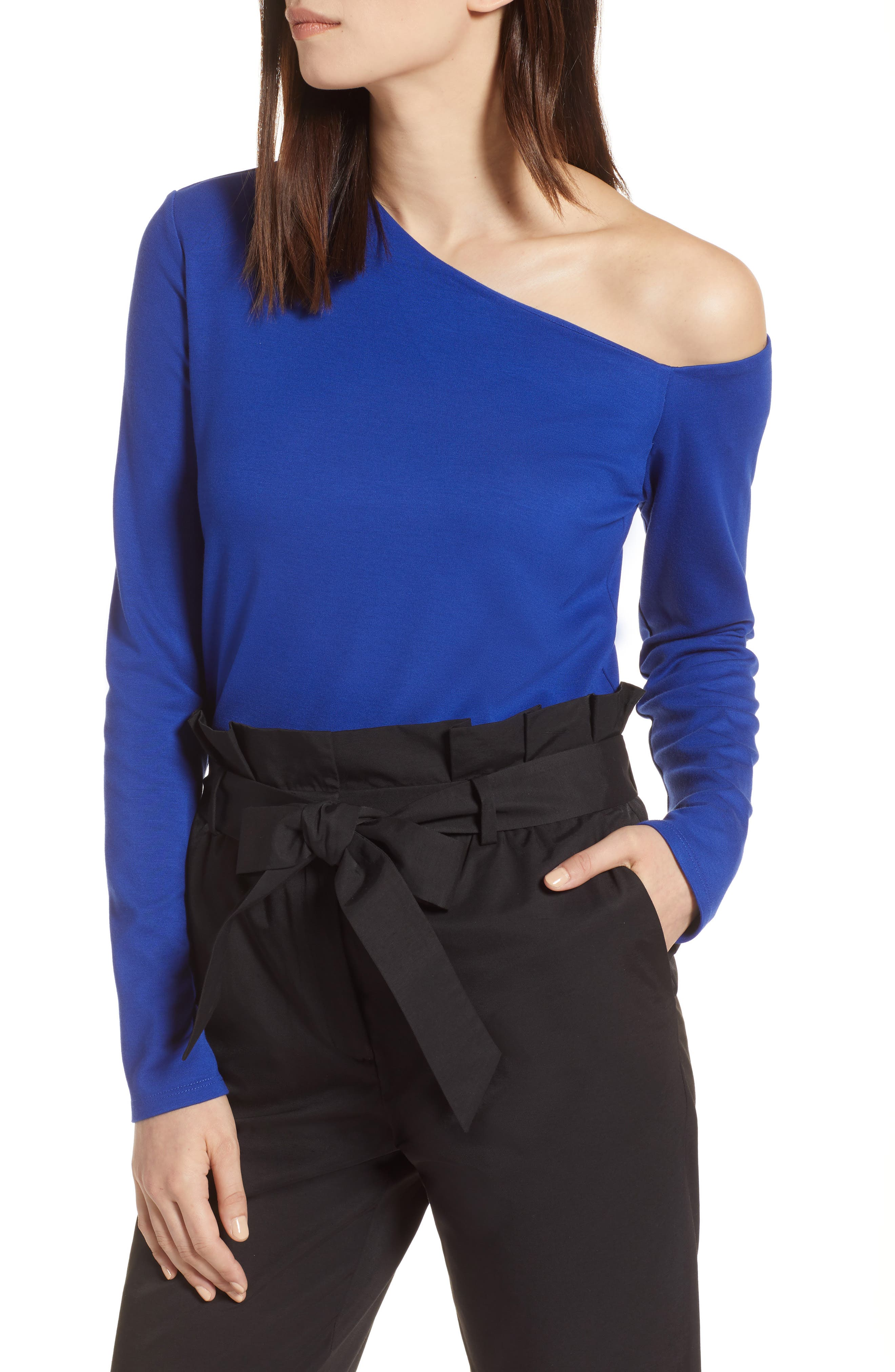 One-Shoulder Knit Tee,                             Main thumbnail 3, color,