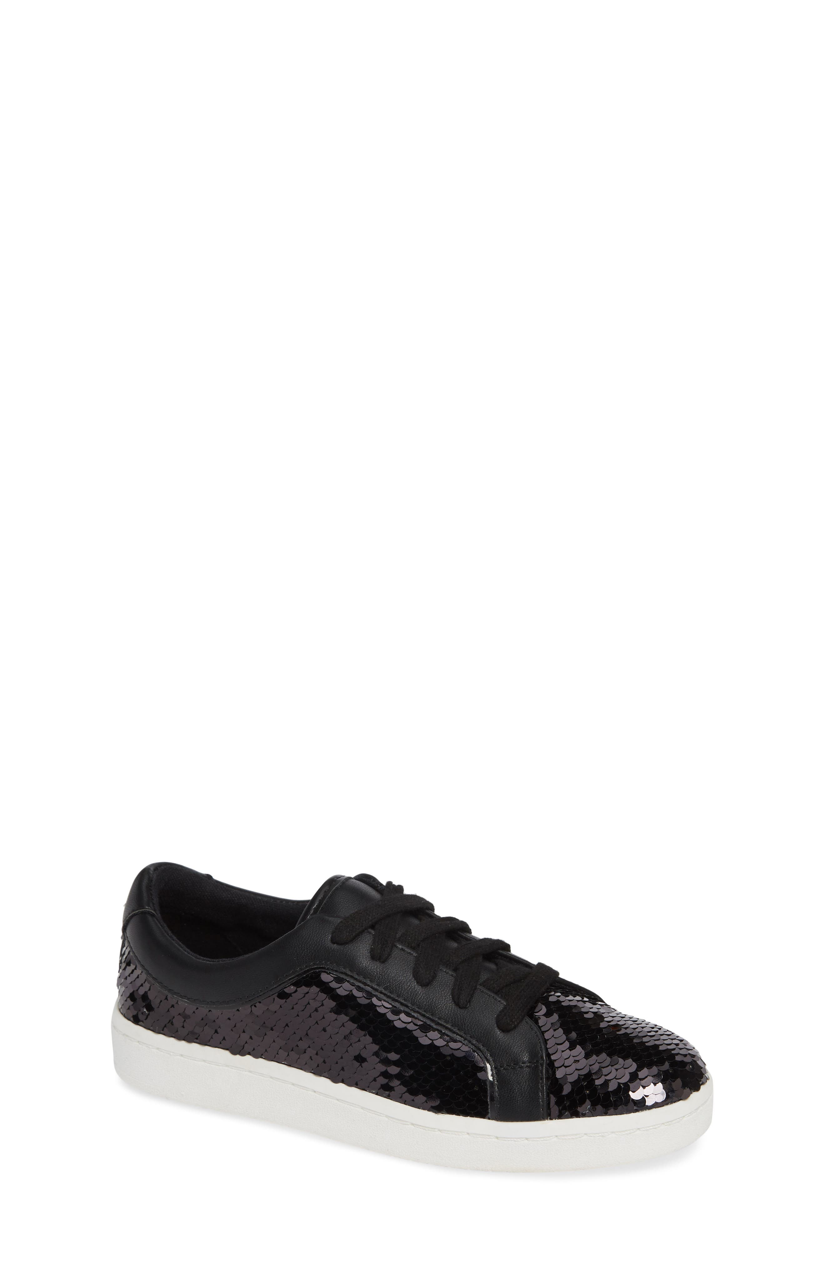 Blane Elizia Sequin Sneaker,                             Main thumbnail 1, color,                             BLACK SILVER