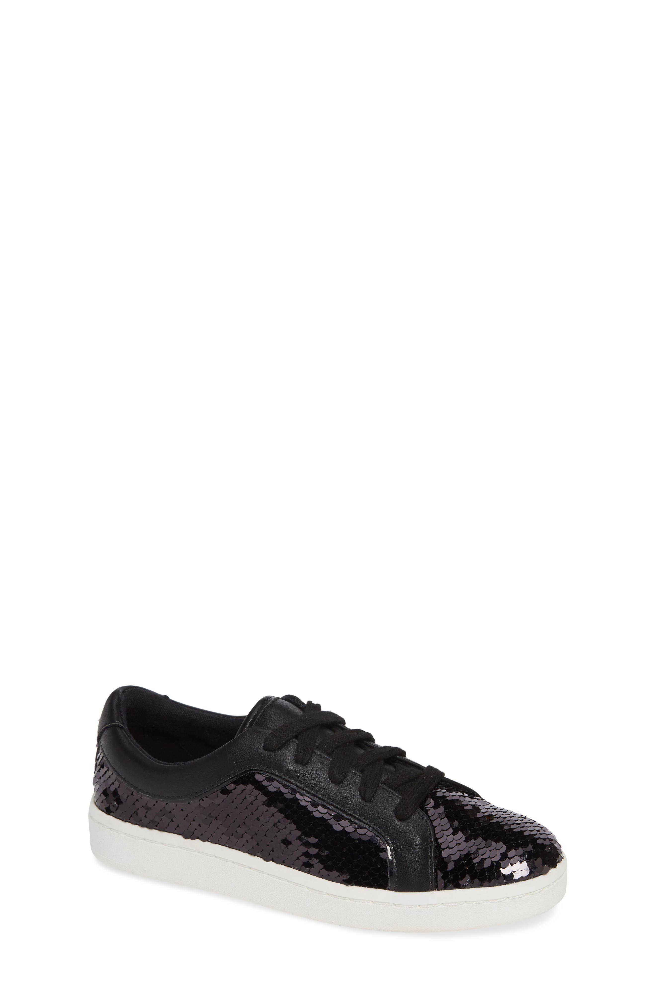 Blane Elizia Sequin Sneaker,                         Main,                         color, BLACK SILVER