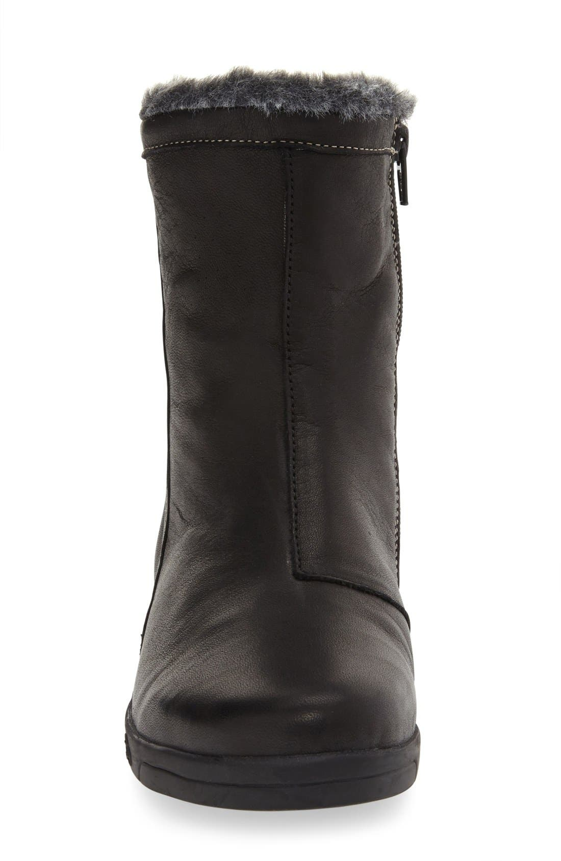 'Aryana' Boot,                             Alternate thumbnail 3, color,                             BLACK LEATHER