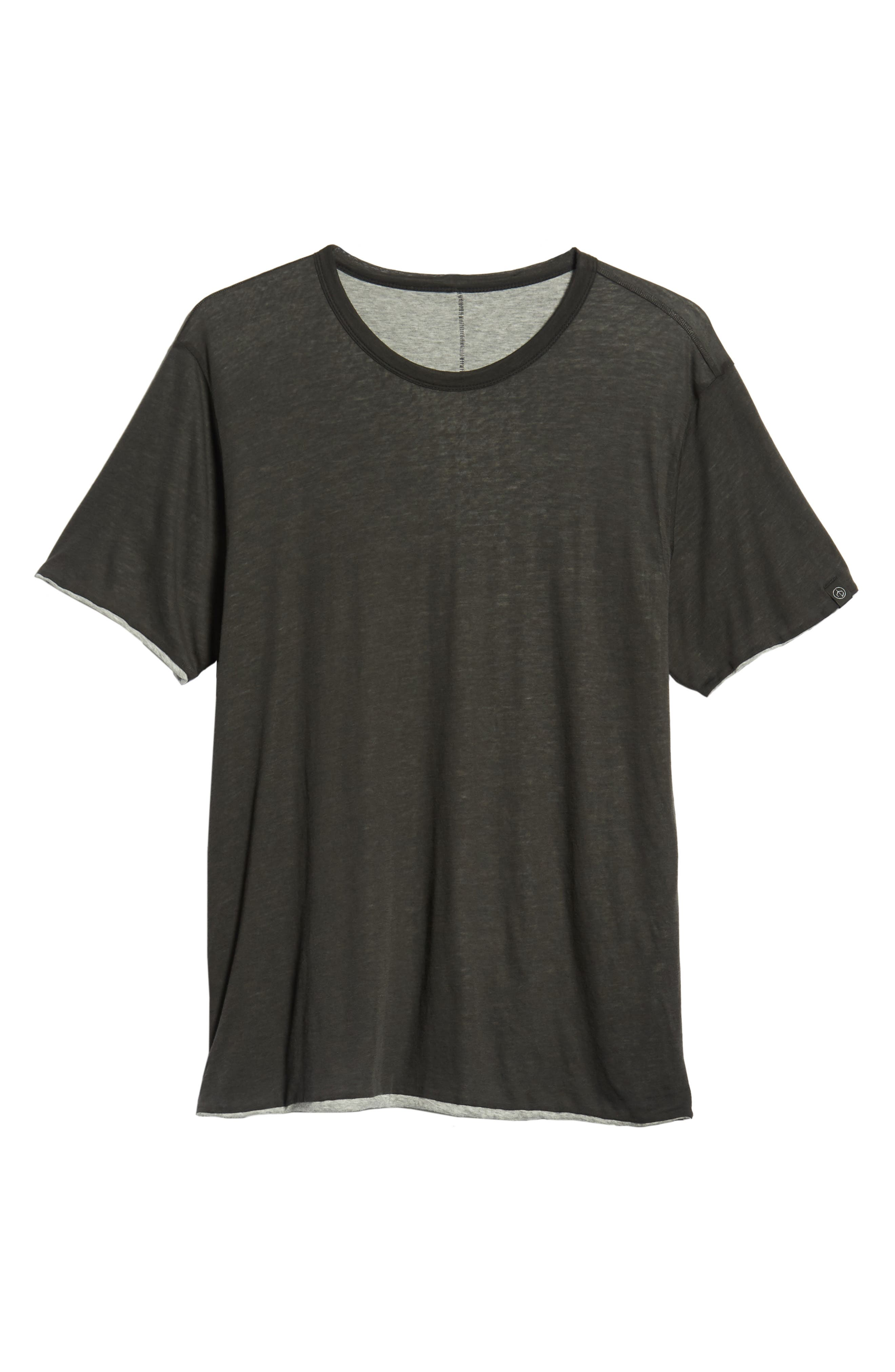 Reversible T-Shirt,                             Alternate thumbnail 6, color,                             IVORY/ GREY