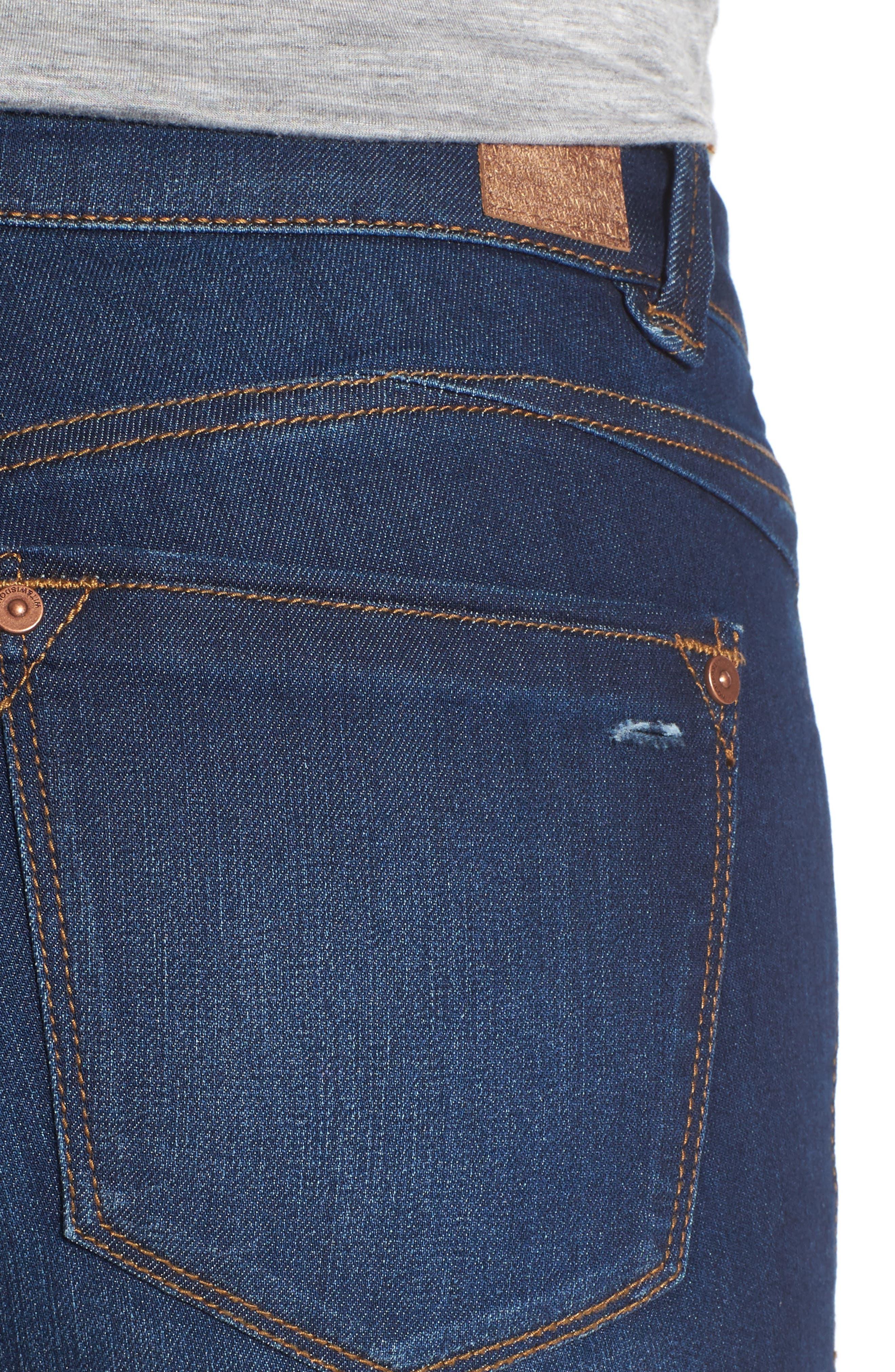 Skinny Ankle Jeans,                             Alternate thumbnail 4, color,